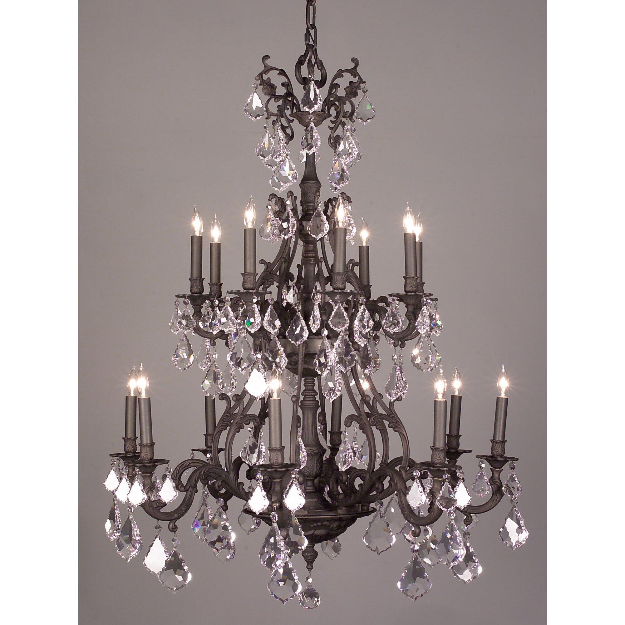 Classic Lighting Majestic 16 Light Crystal Chandelier
