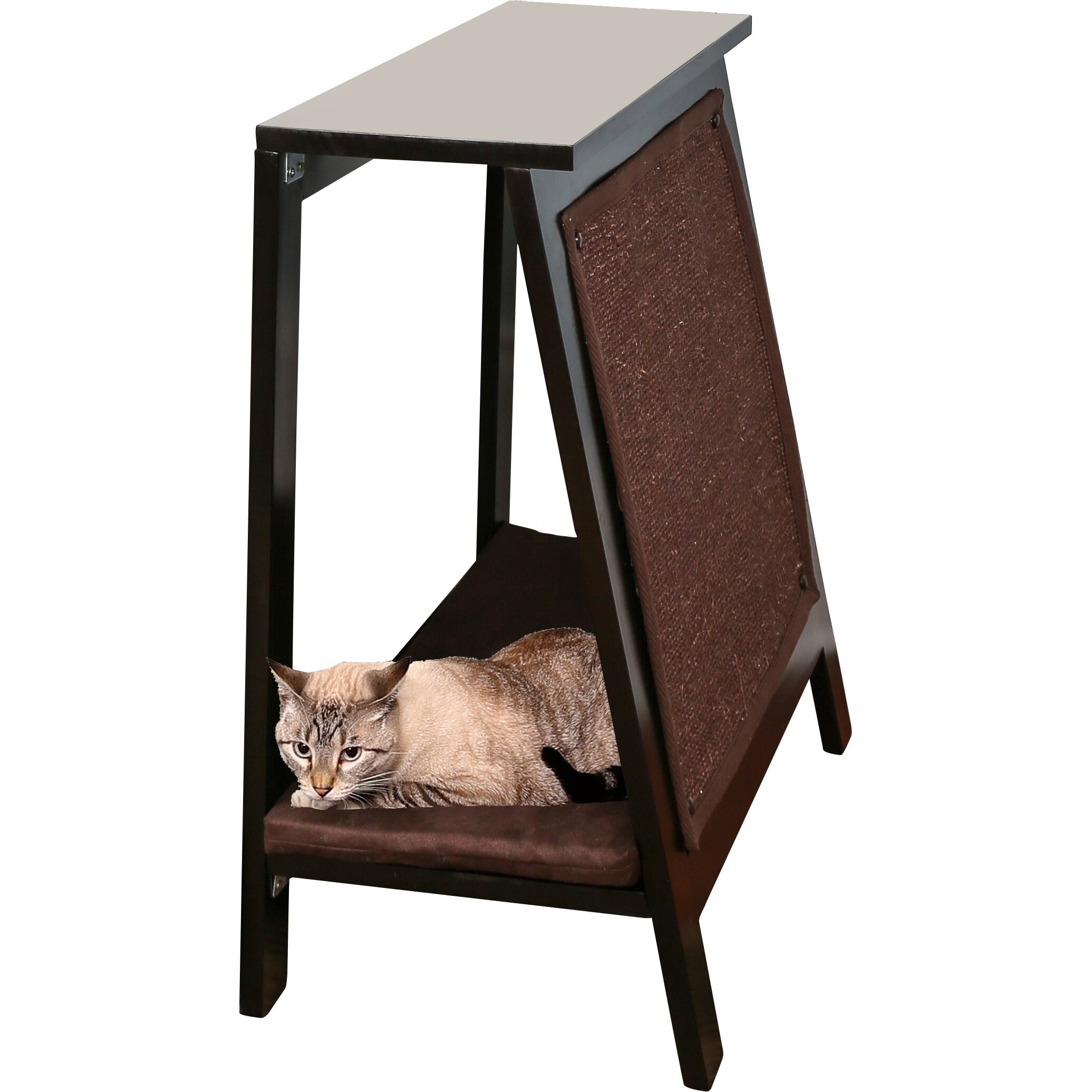 The Refined Feline A-Frame Cat Bed
