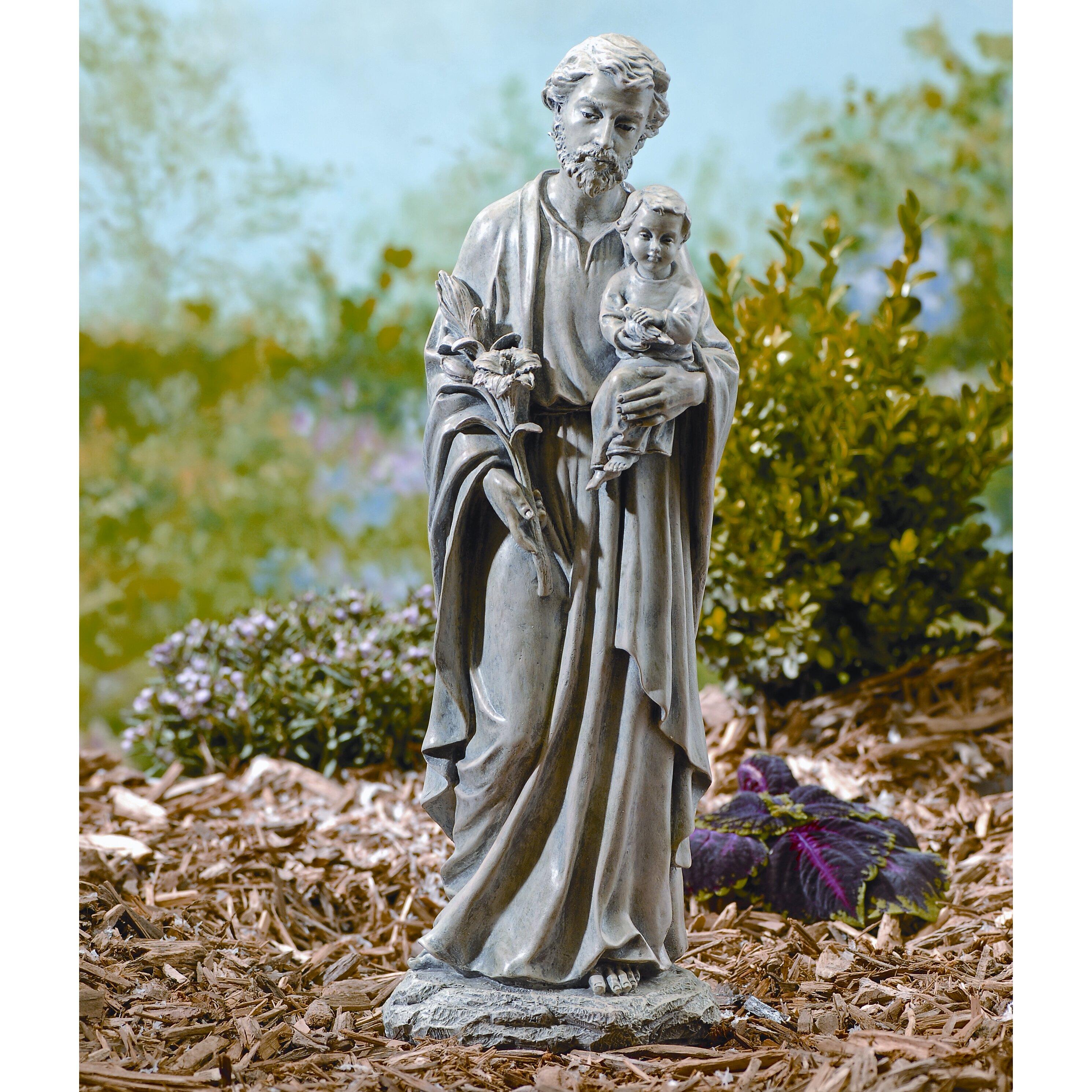 Wayfair Garden Statues: Roman, Inc. St. Joseph Outdoor Statue & Reviews