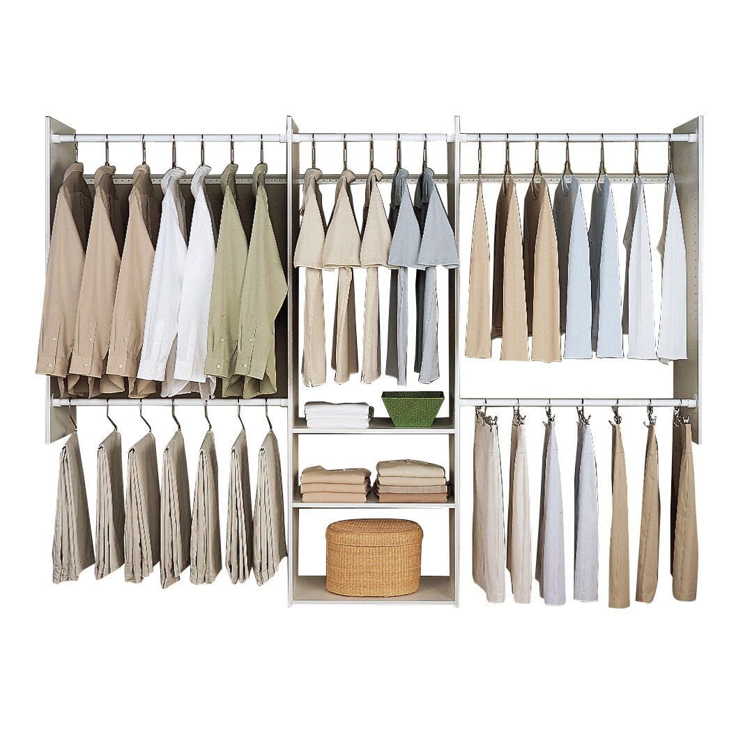 easy track deluxe 96 w closet system reviews wayfair. Black Bedroom Furniture Sets. Home Design Ideas