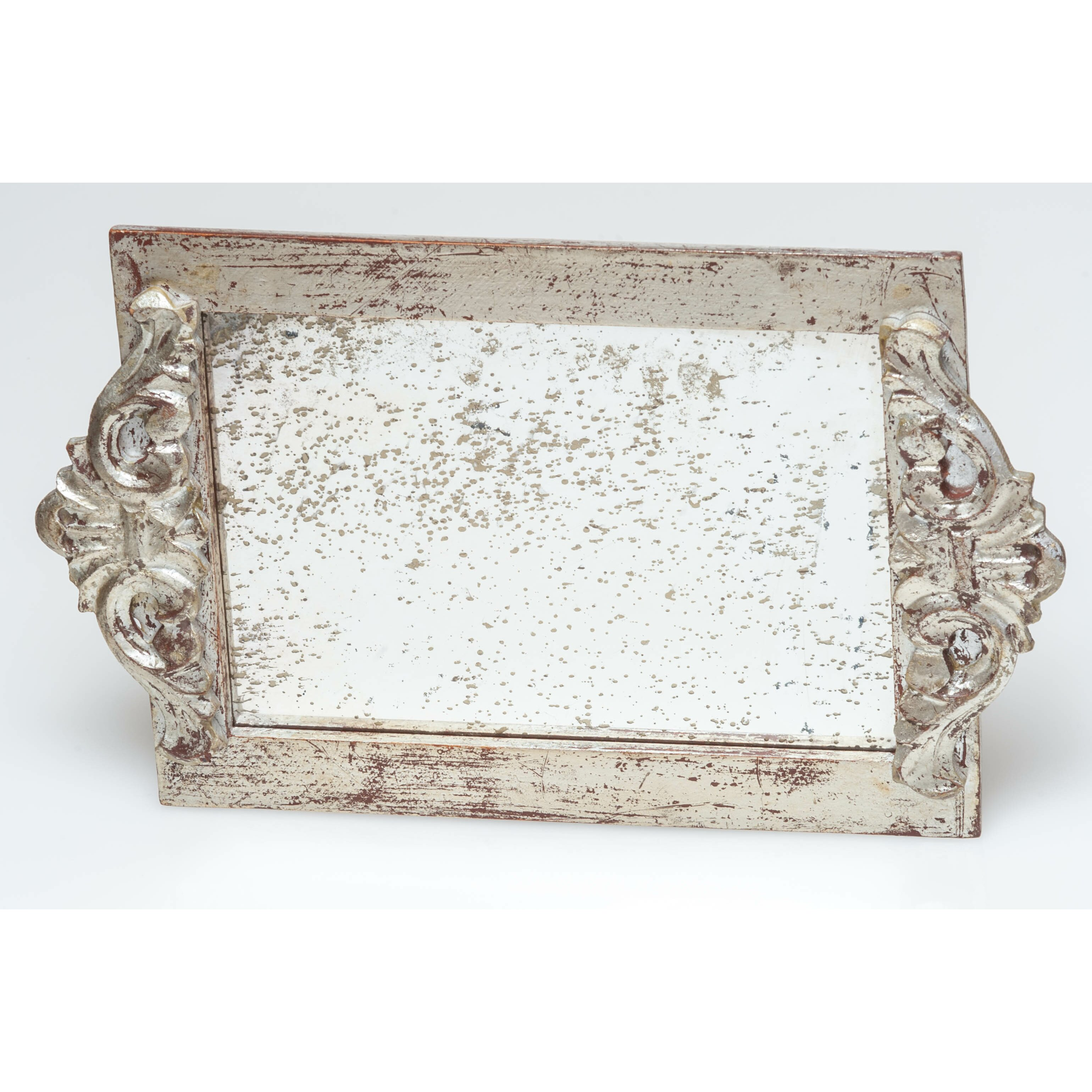 Antique vanity tray with lace insert - Abigails Vanity Tray With Faux Antique Mirror Surface Reviews
