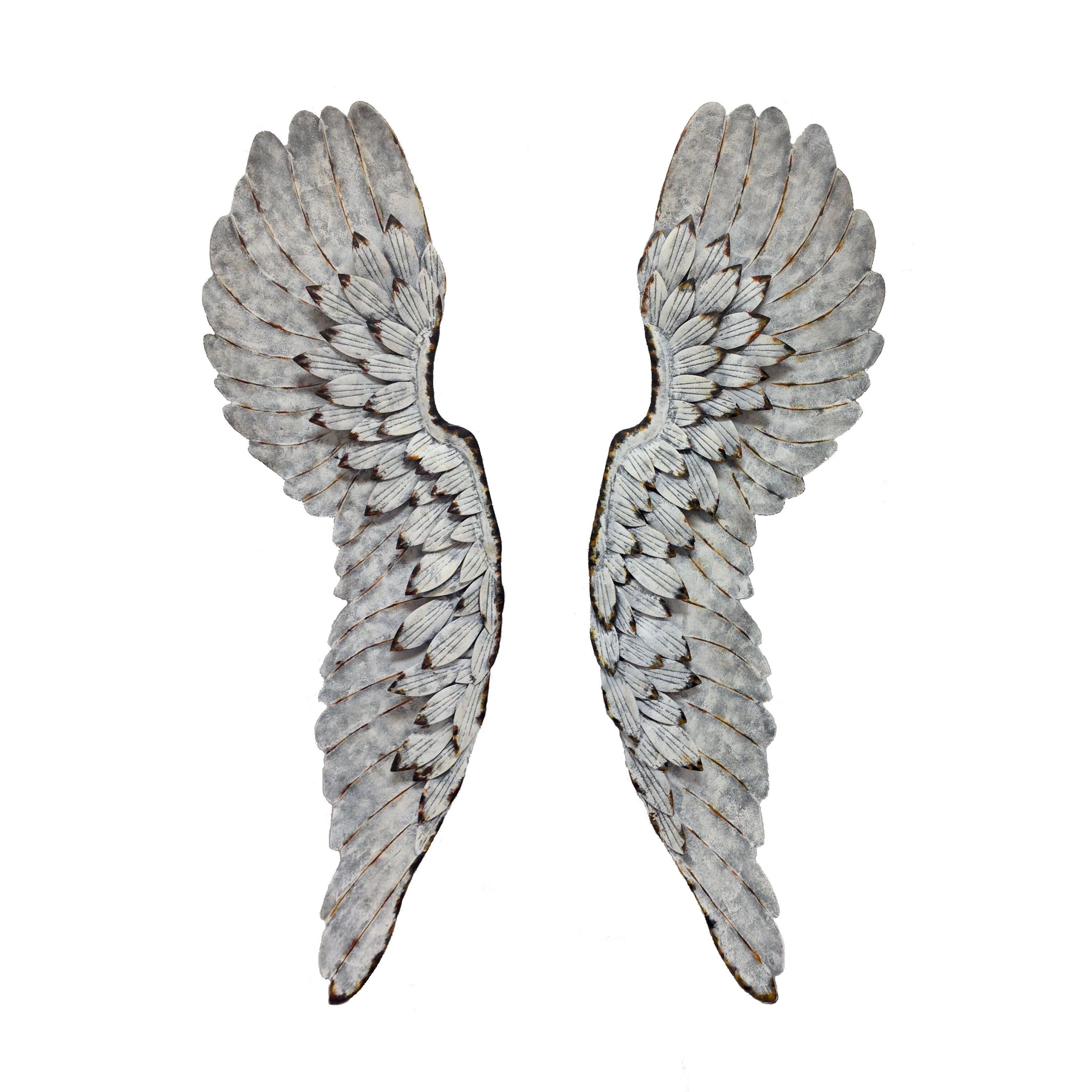 Wilco home metal angel wings wall d cor reviews wayfair for Angel wings wall decoration