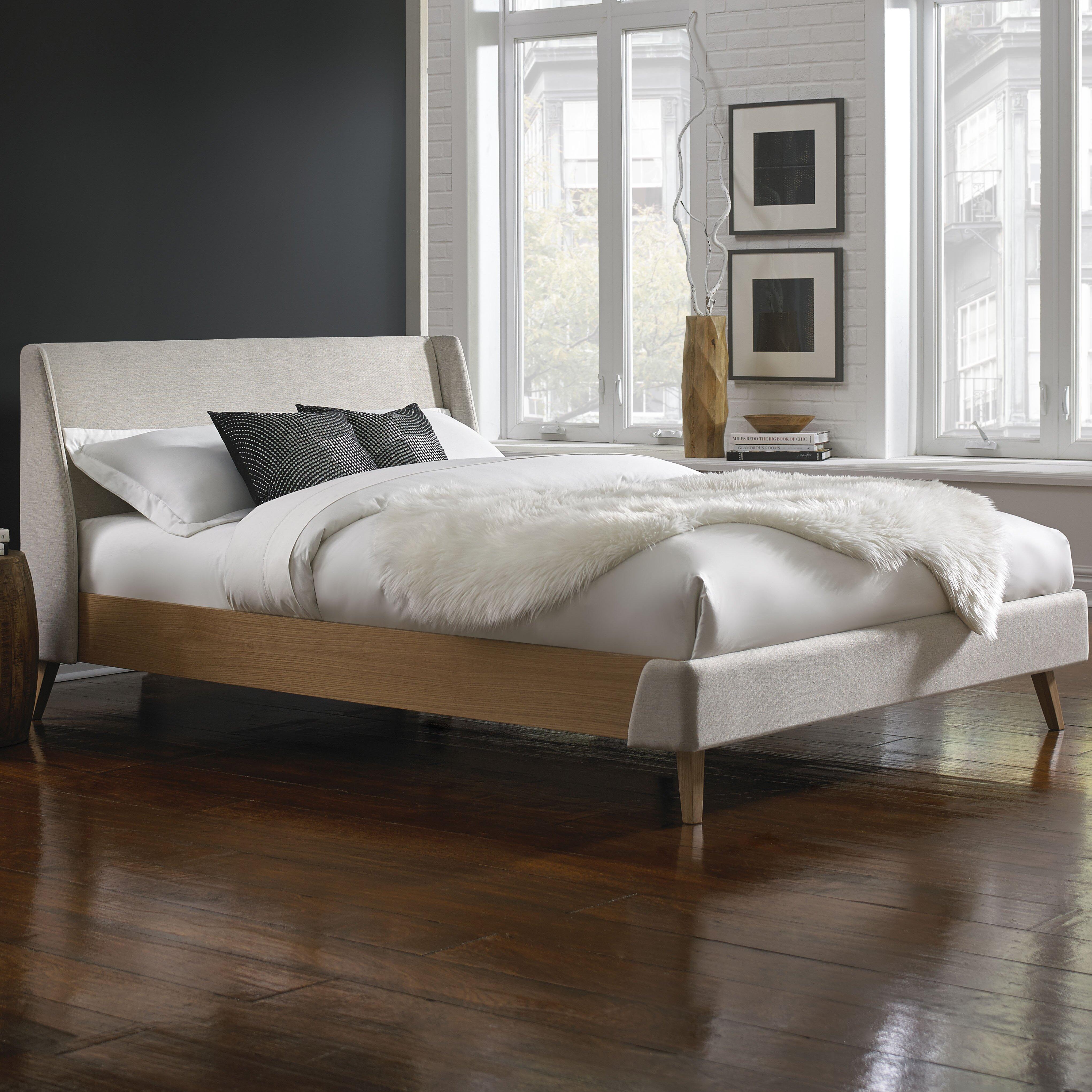 Platform Bedroom Fashion Bed Group Palmer Upholstered Platform Bed Reviews Wayfair