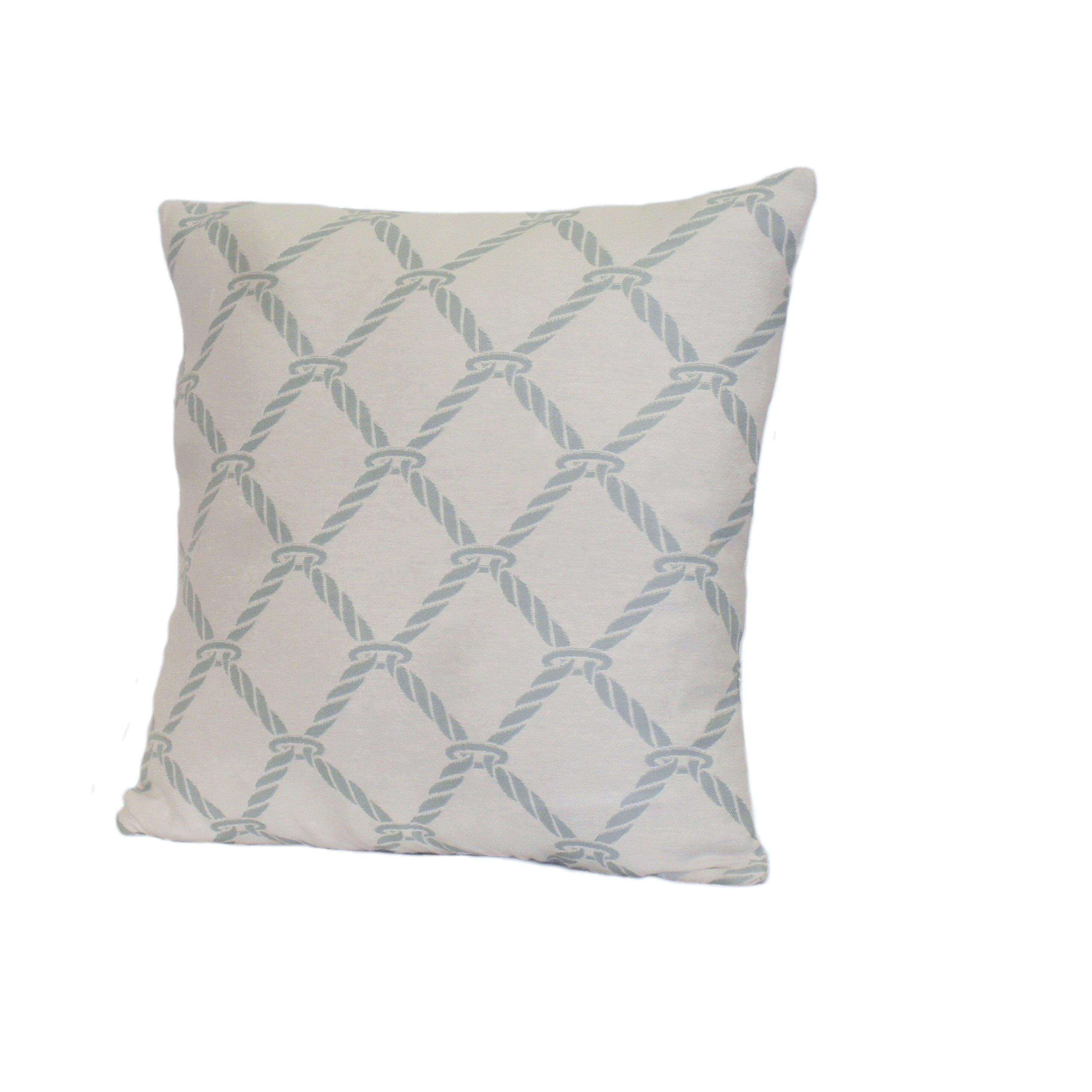 Nautical Design Throw Pillows : Rennie & Rose Design Group Nautical Rope Stuffed Throw Pillow Wayfair