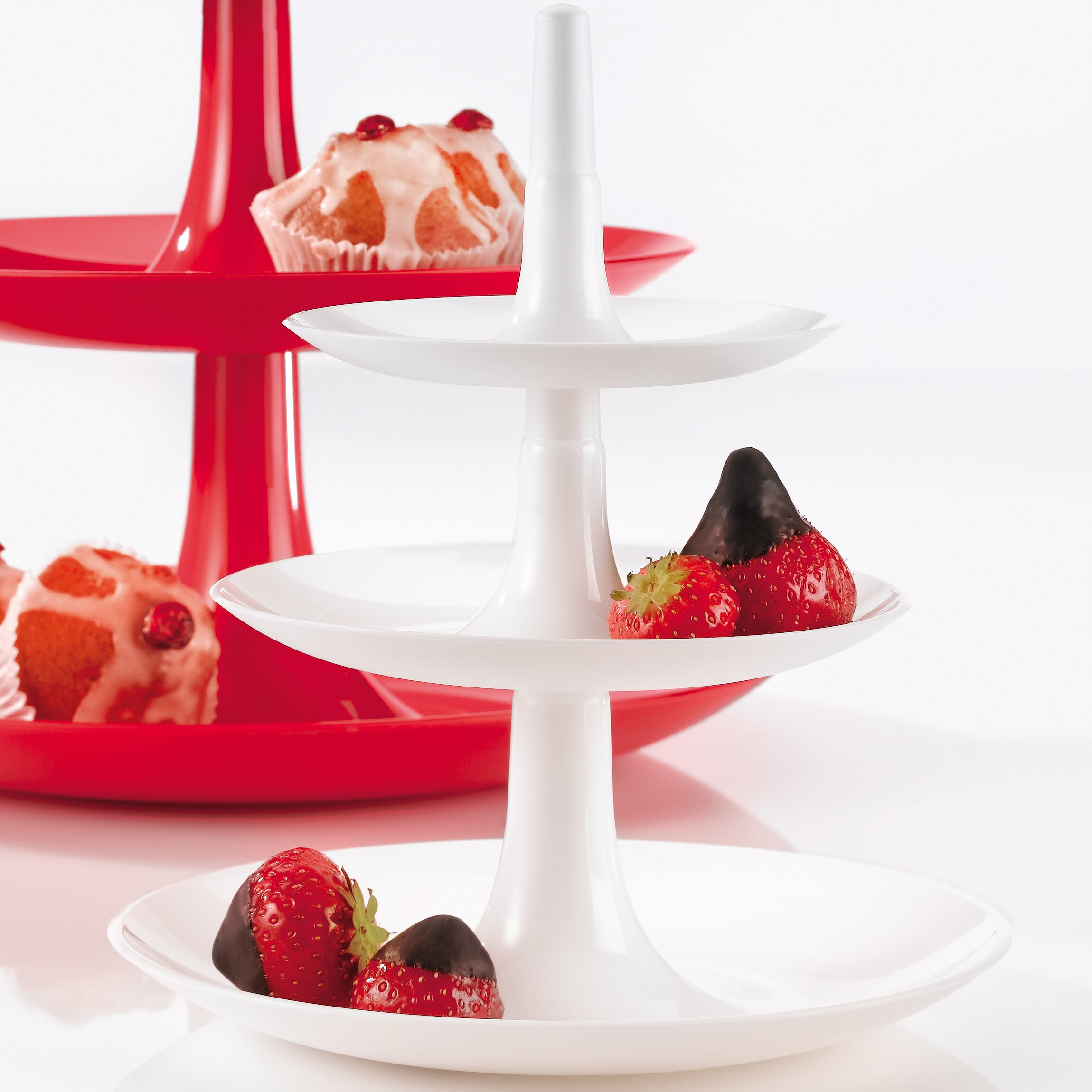 Strawberry Kitchen Curtains Koziol Babell Melamine 3 Tiered Stand Reviews Wayfair