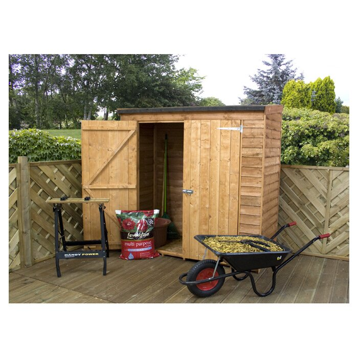 Mercia garden products 6 ft w x 2 6 ft d wooden overlap for Garden shed 2 x 2