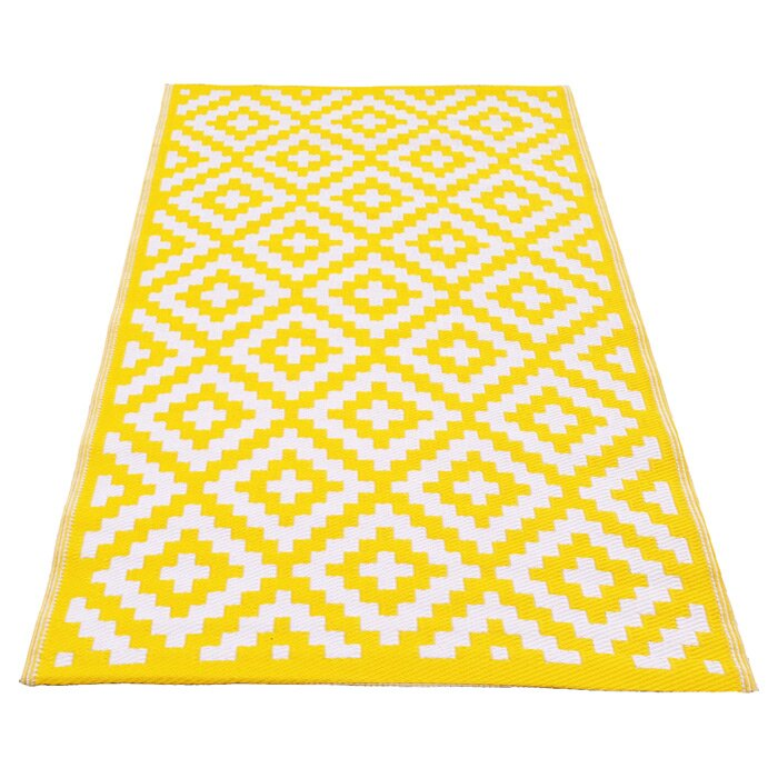 Riley Ave Krista Yellow Outdoor Area Rug & Reviews