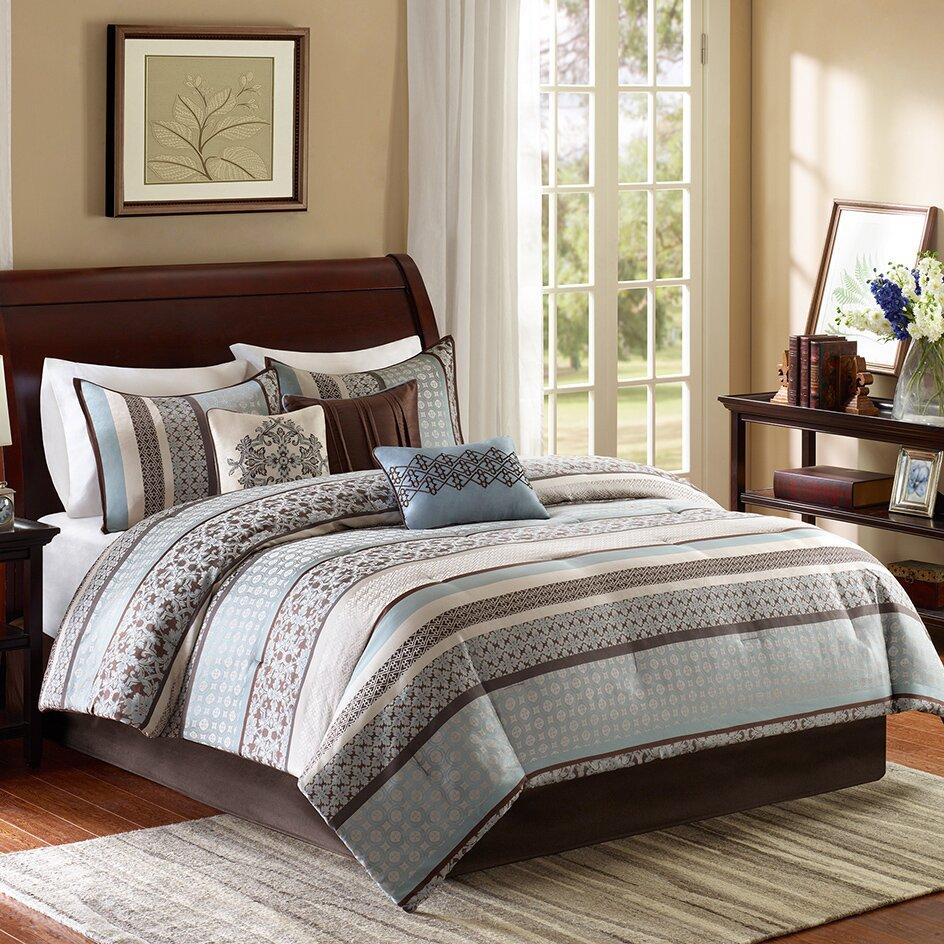 madison park princeton 7 piece reversible comforter set reviews wayfair. Black Bedroom Furniture Sets. Home Design Ideas