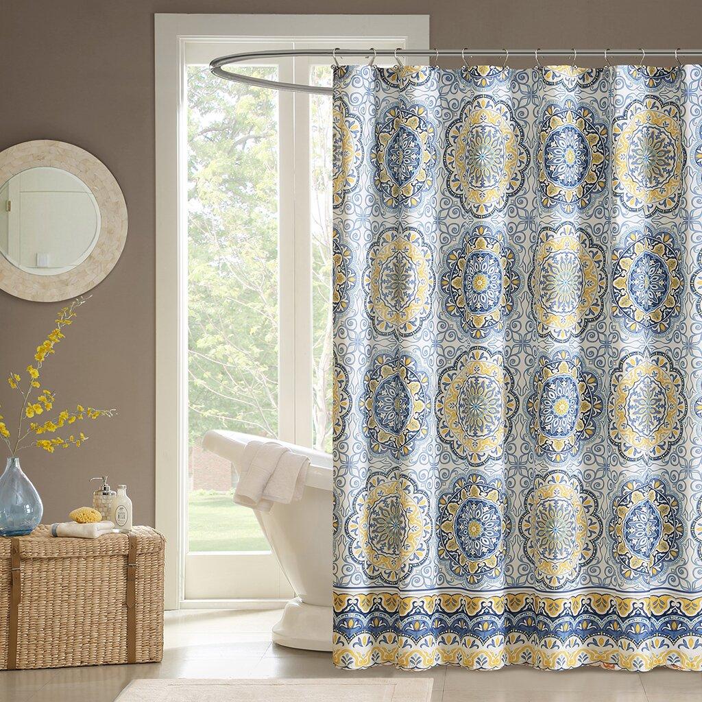 Yellow stripe shower curtain - Chloe Shower Curtain