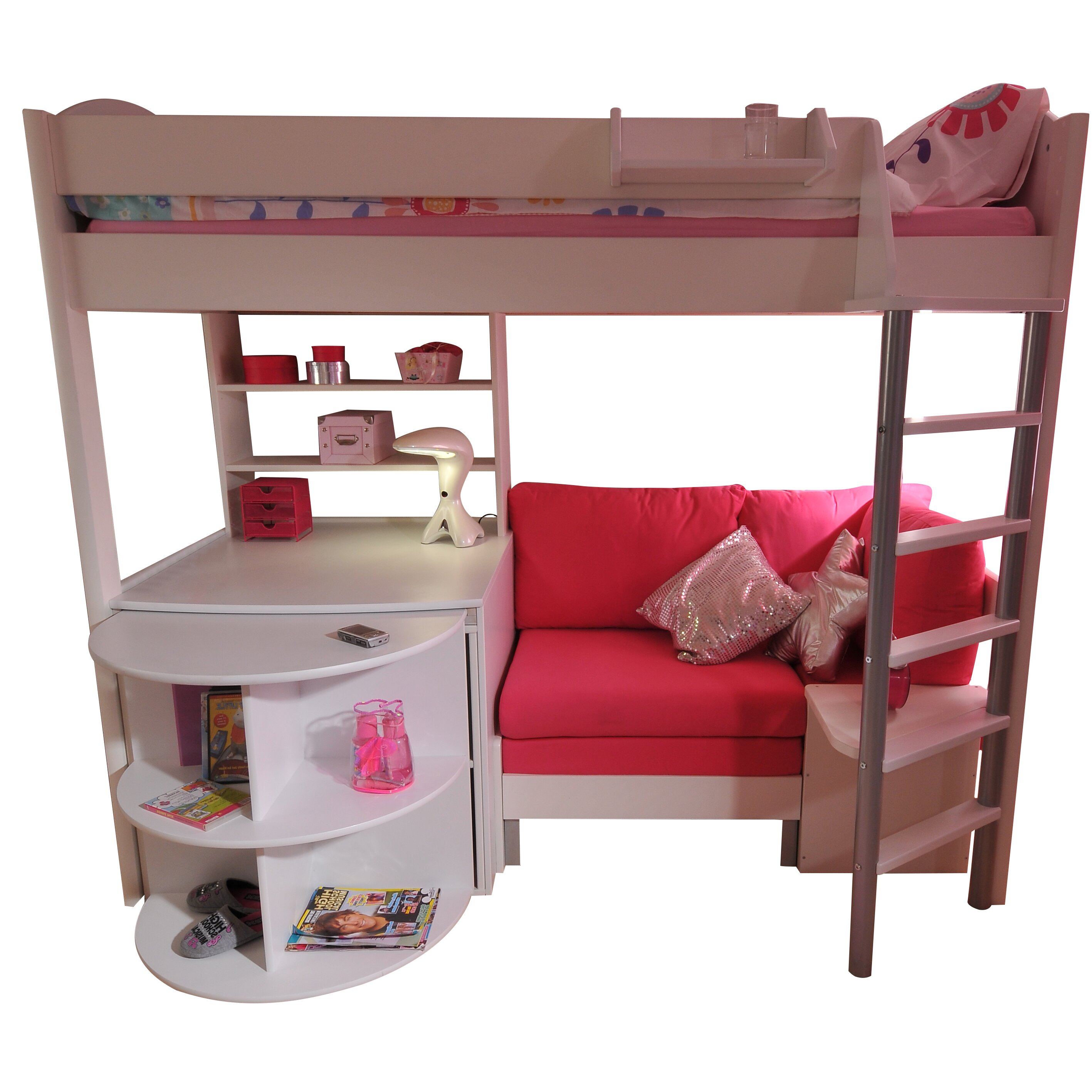 Stompa Casa European Single L Shaped Bunk Bed With Storage