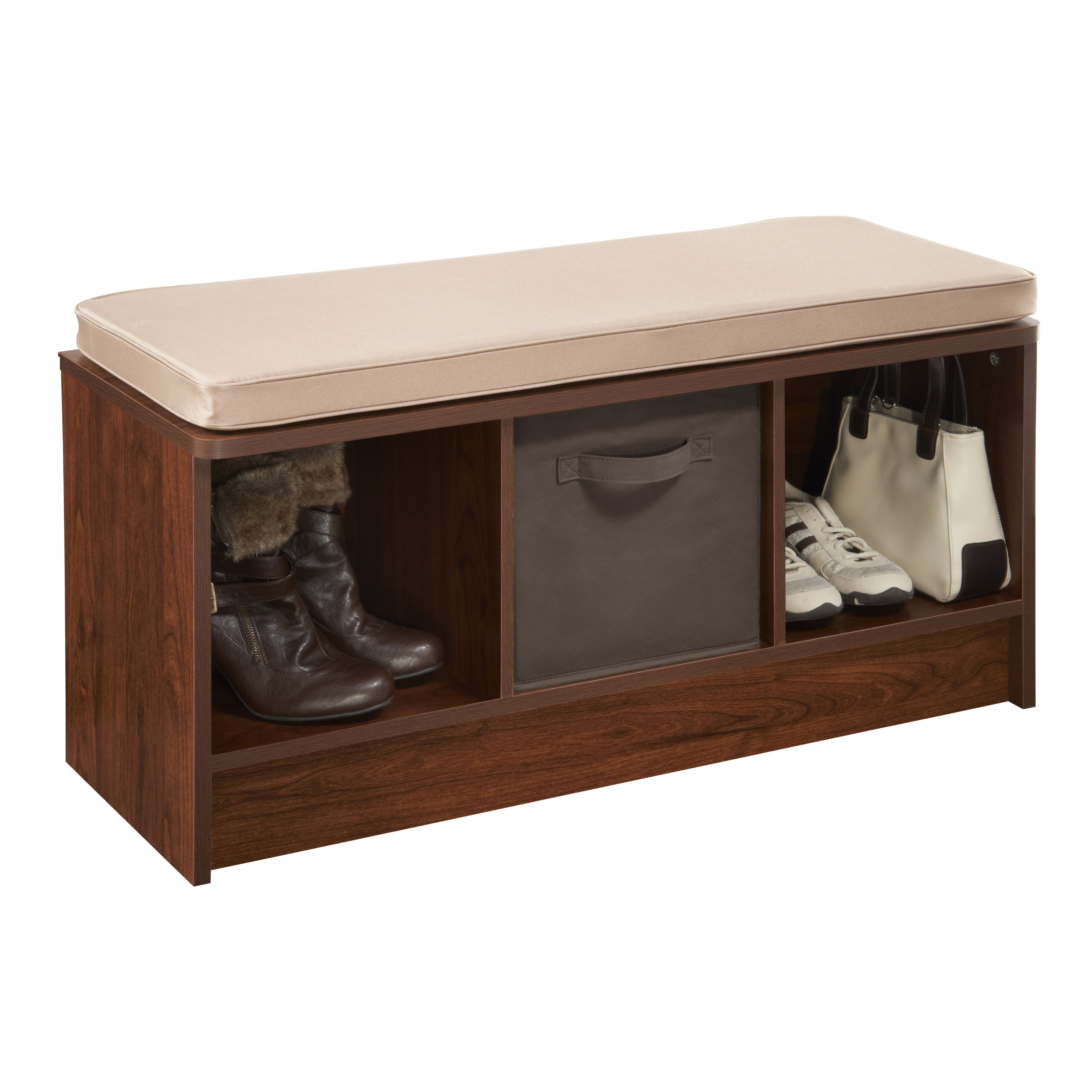 Closetmaid Cubeicals Upholstered Storage Entryway Bench
