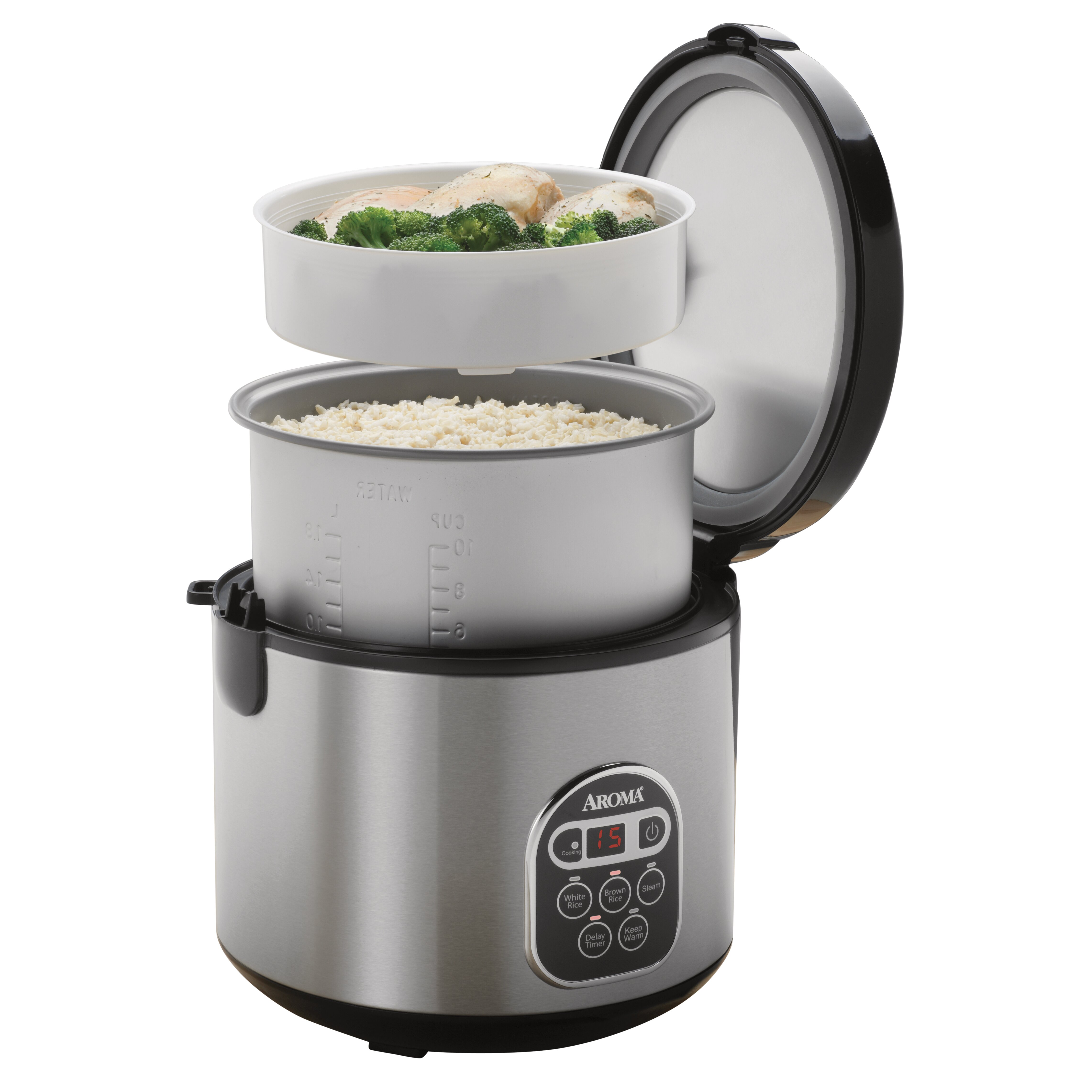 Aroma 6 cup Rice Cooker and Food Steamer Review - YouTube