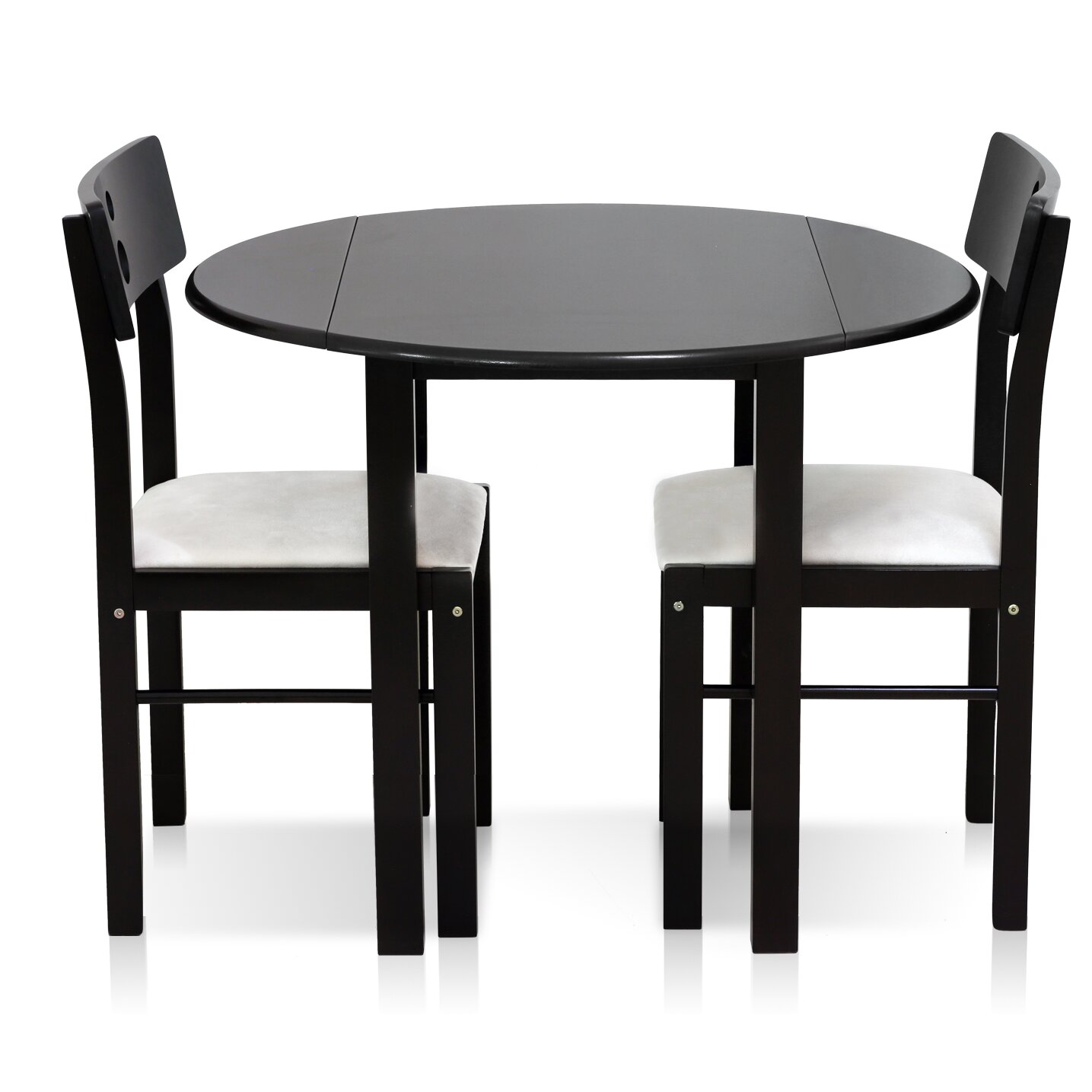 Furinno CosDrop Leaf Solid Wood  Piece Dining Set  Reviews - Dining room table solid wood