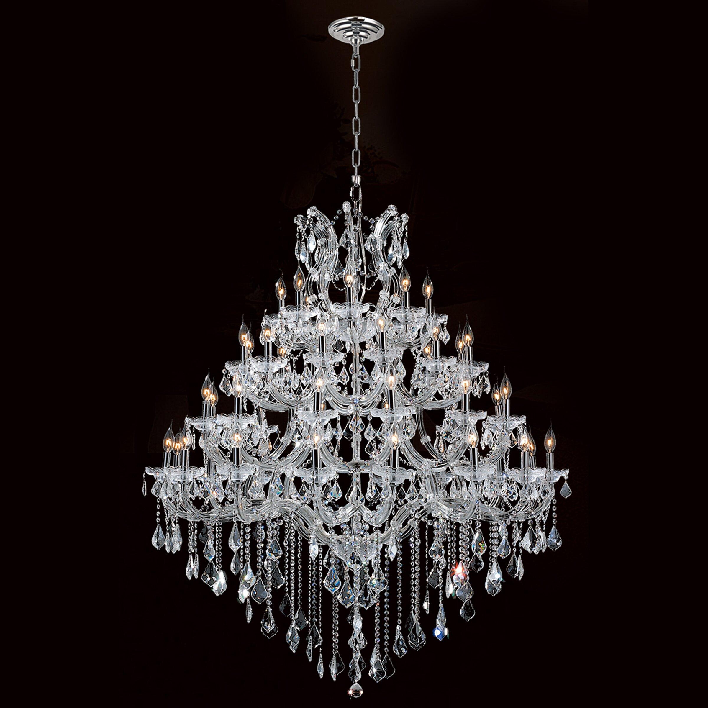 Yvette Crystal Chandelier: Worldwide Lighting Maria Theresa 44 Light Crystal