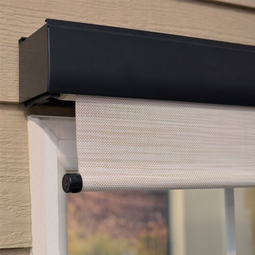 Keystone fabrics gloria motorized premium outdoor solar for Exterior motorized solar shades