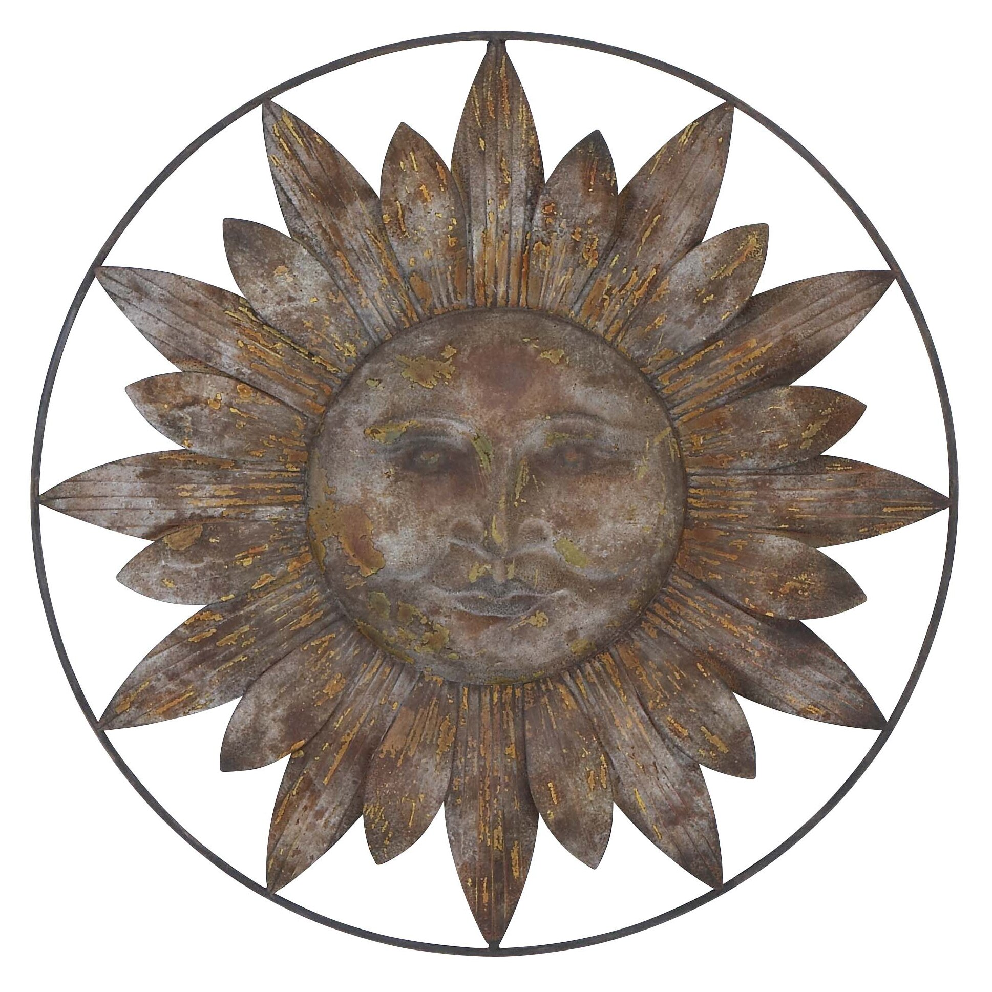 Woodland Imports Metal Sun Wall Decor