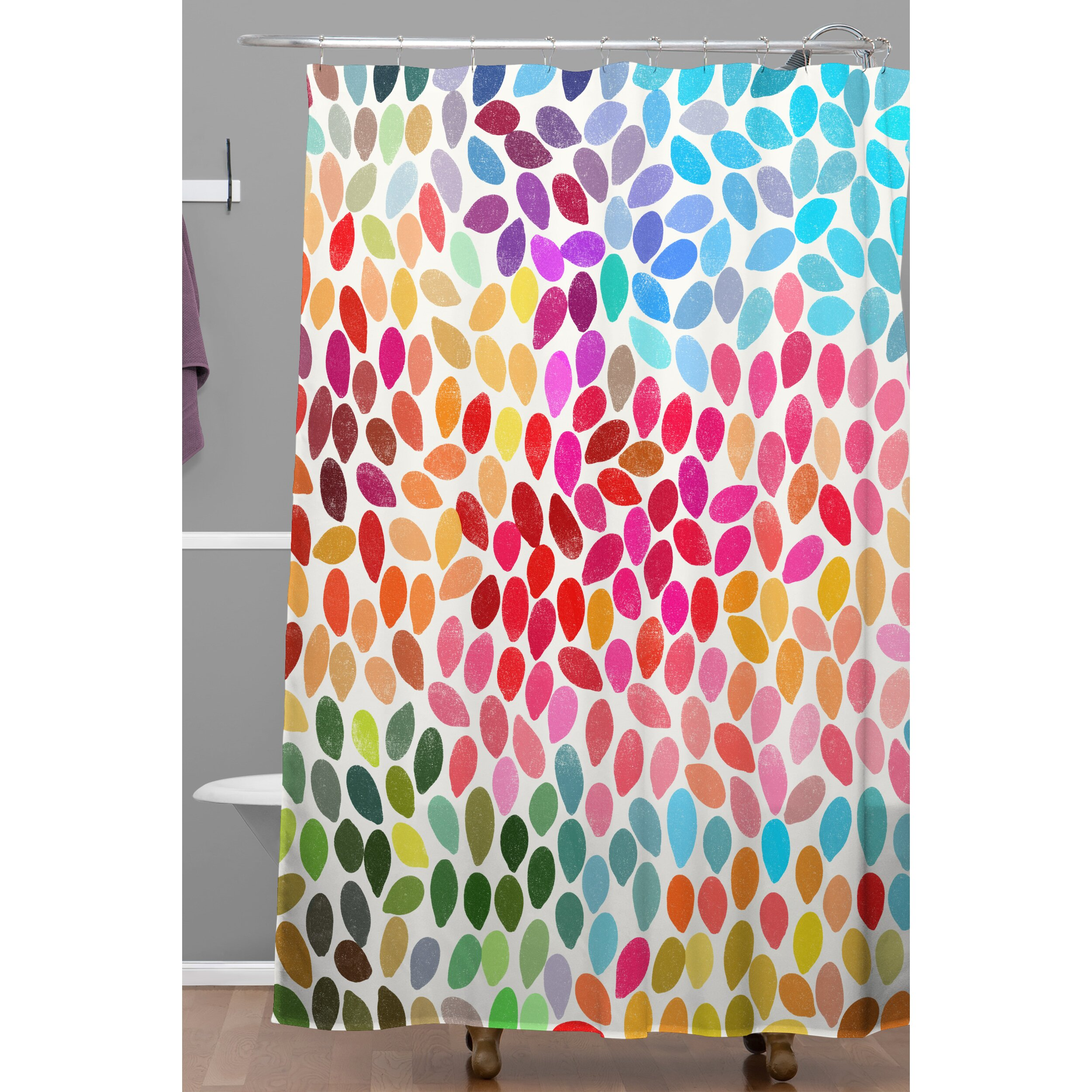 Peacock shower curtain urban outfitters - Octopus Shower Curtain Cafe Press Teal And Orange Shower Curtain Deny Designs Garima Dhawan Dots