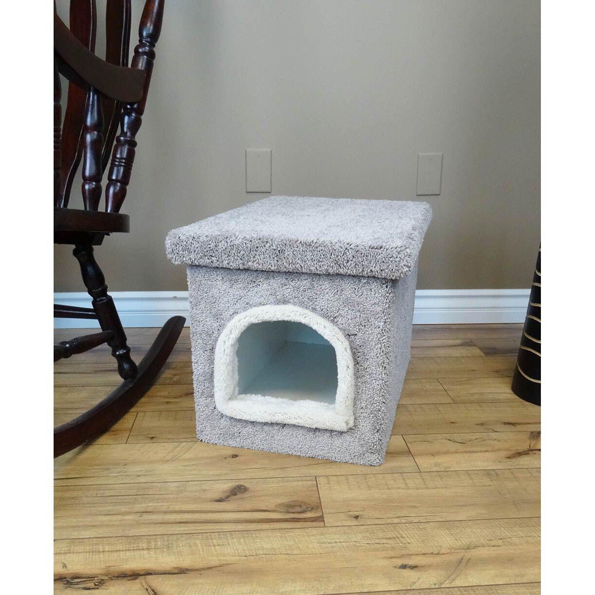 Wooden Litter Box Cabinets New Cat Condos Premier Litter Box Enclosure Reviews Wayfair