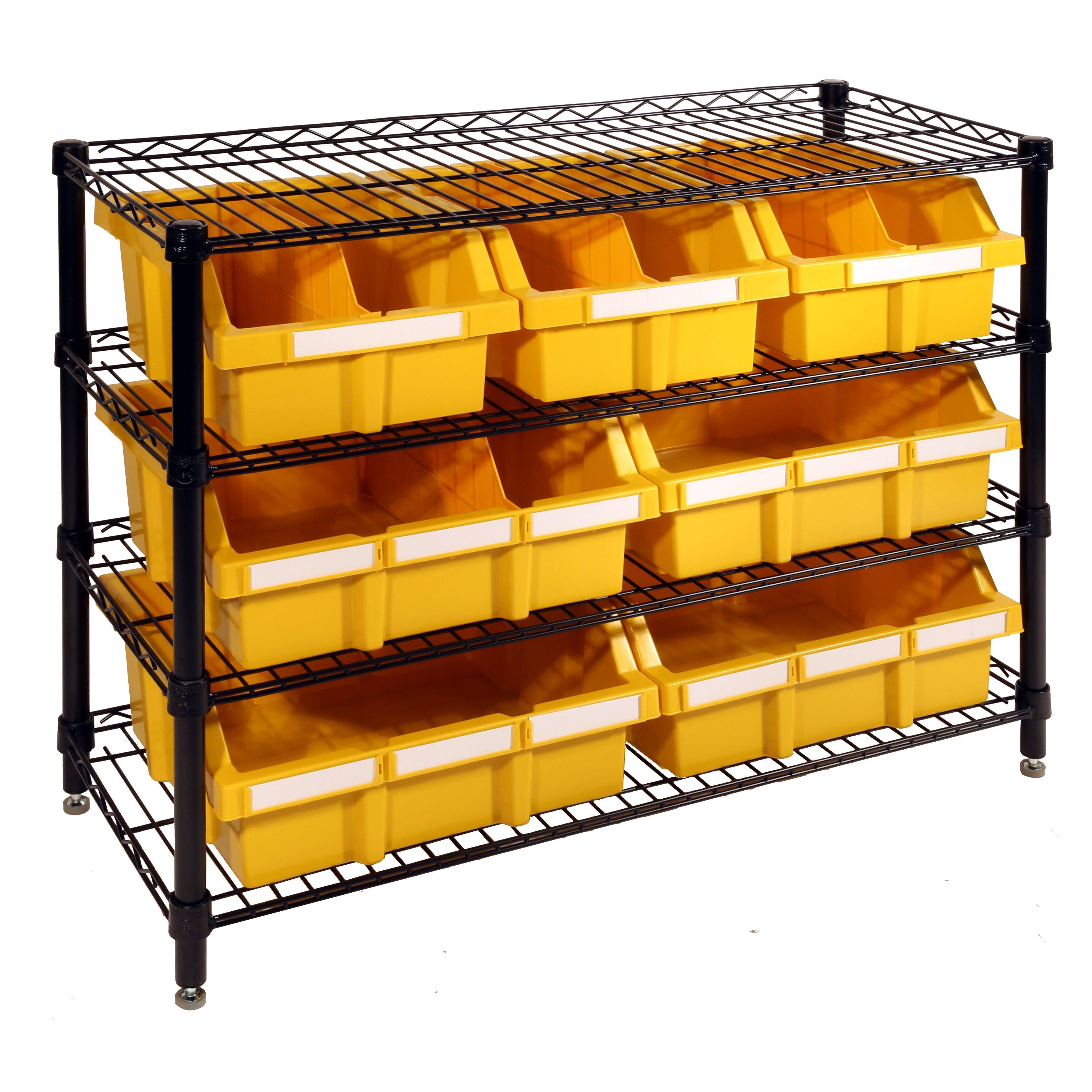 Image Result For Commercial Shelf Bin Storage Rack System