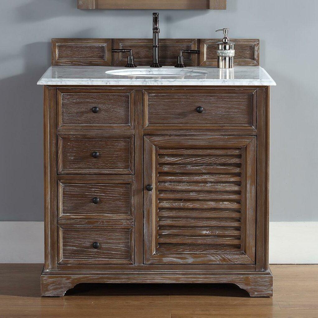 Driftwood Bathroom Vanity James Martin Furniture Savannah 36 Single Driftwood Bathroom