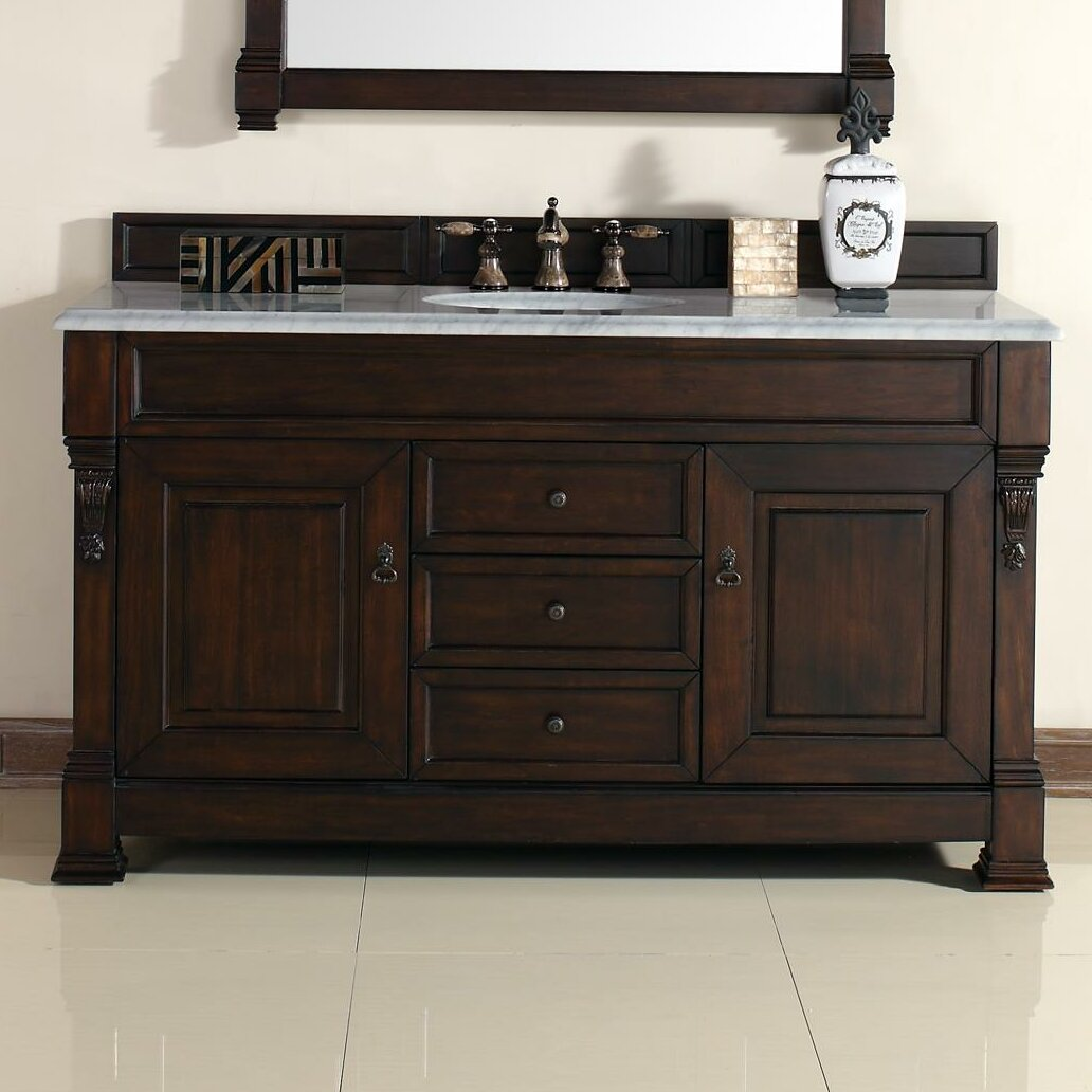 James martin furniture brookfield 60 single burnished - Wayfair furniture bathroom vanities ...