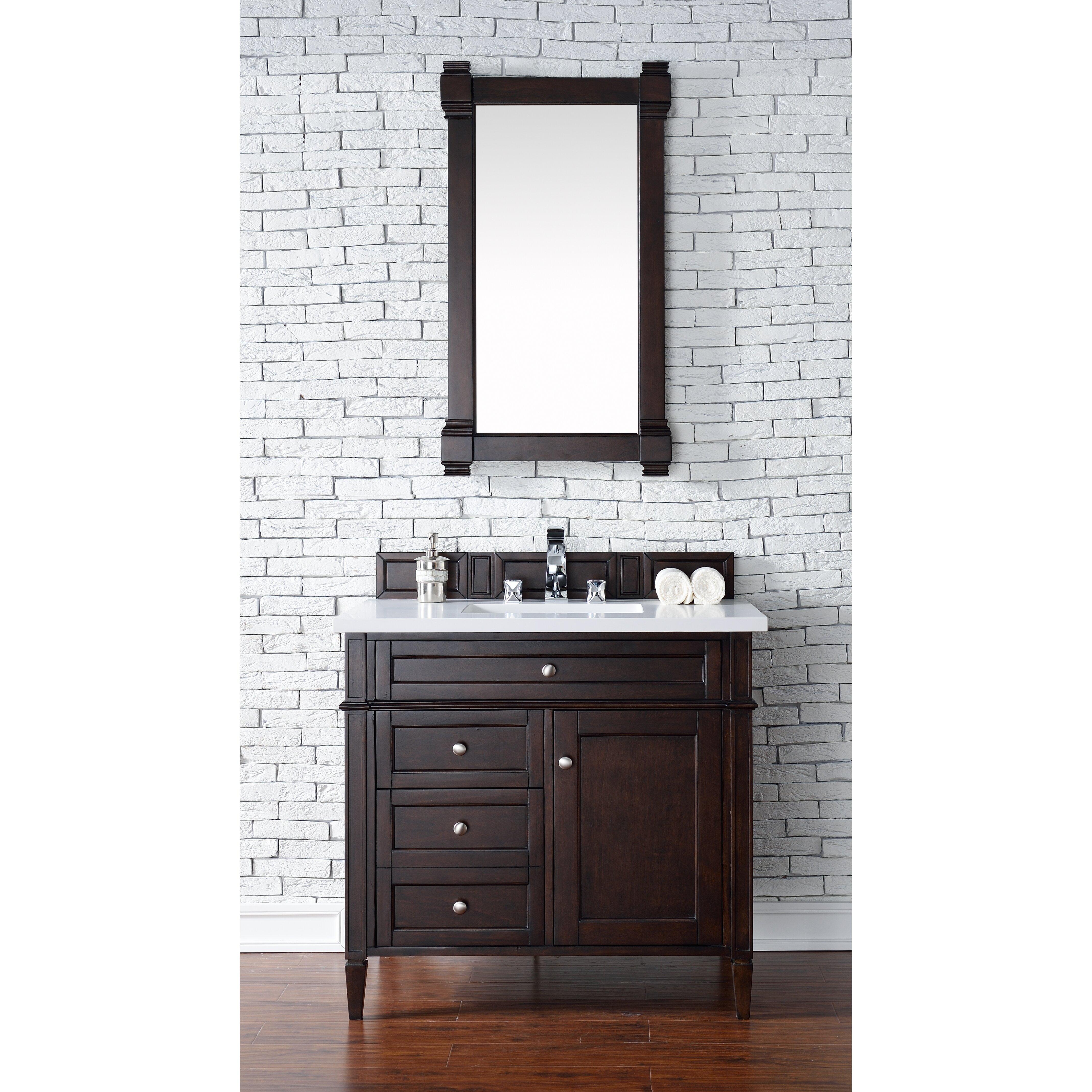 Bathroom Vanity Base James Martin Furniture Brittany 36 Single Bathroom Vanity Base