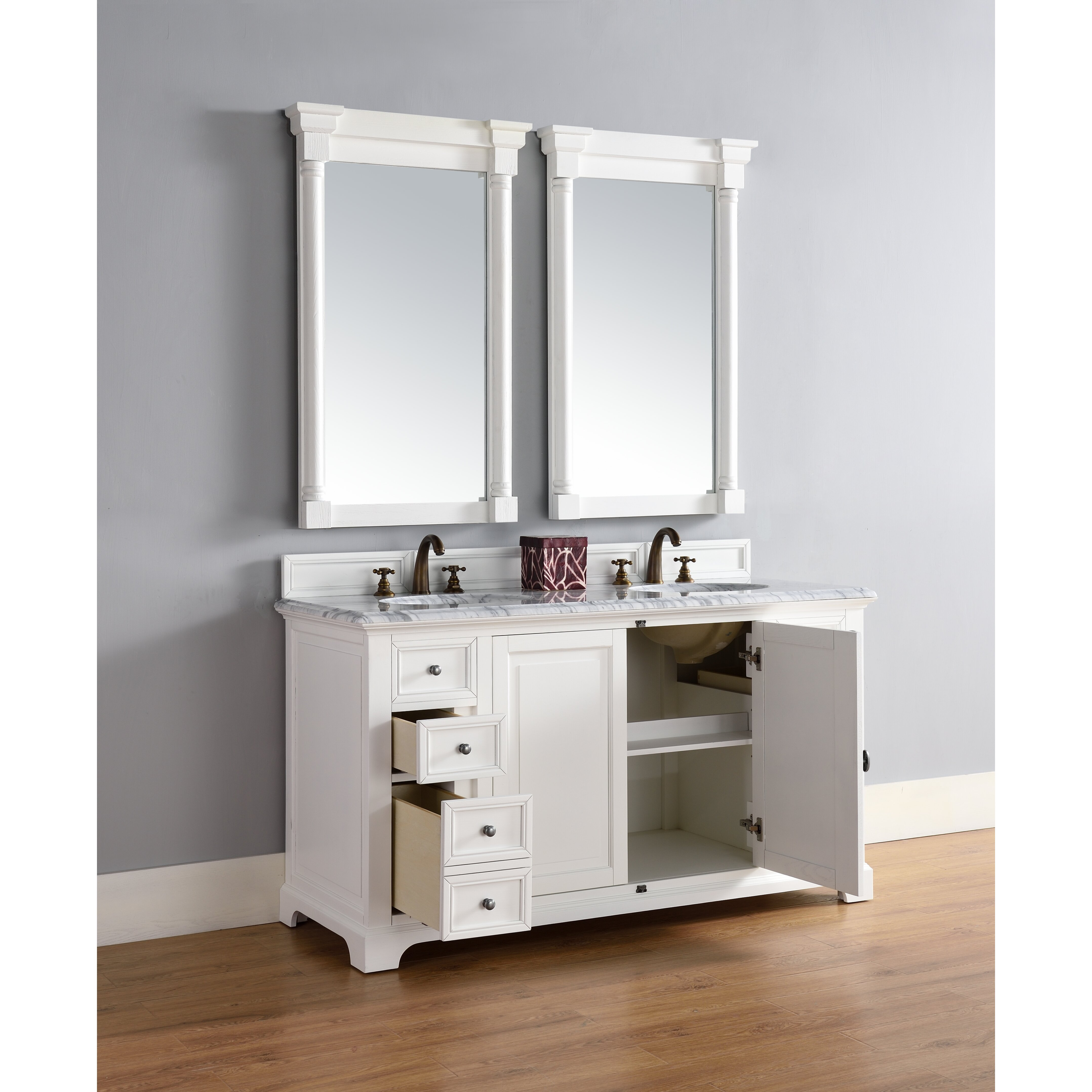 James Martin Furniture Providence 60 Quot Double Cottage White
