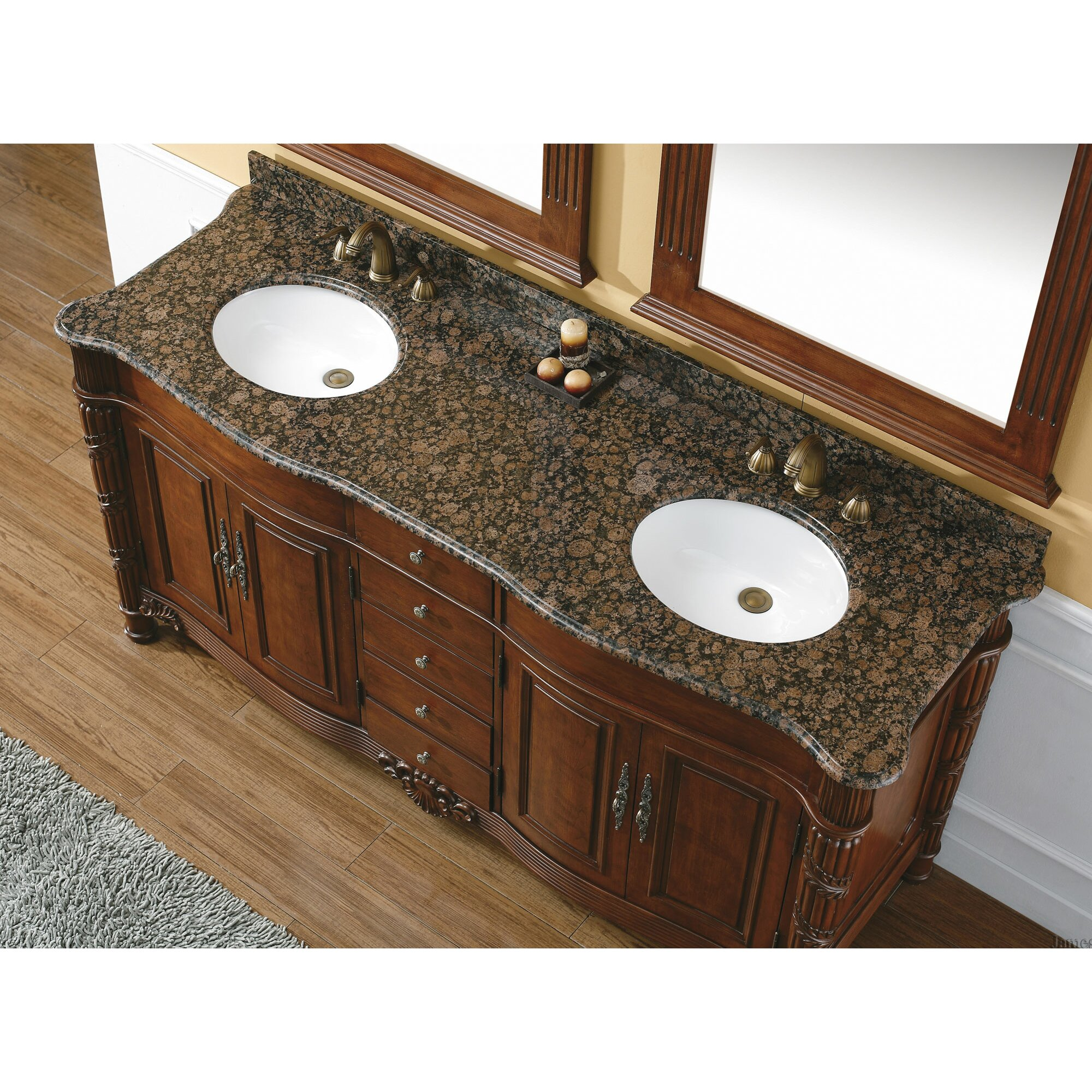 "James Martin Furniture Dalia 72"" Double Cherry Bathroom ..."