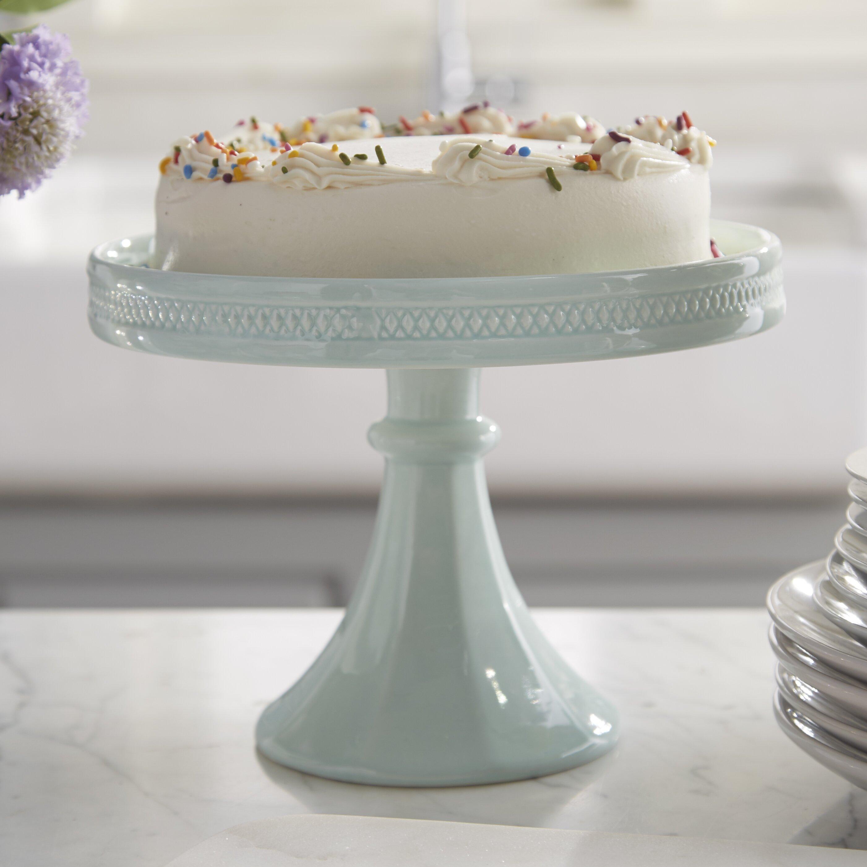 Decorative Cake Stands Rosanna Decor Bon Bon Hue Rimmed Pedestal Cake Stand Reviews