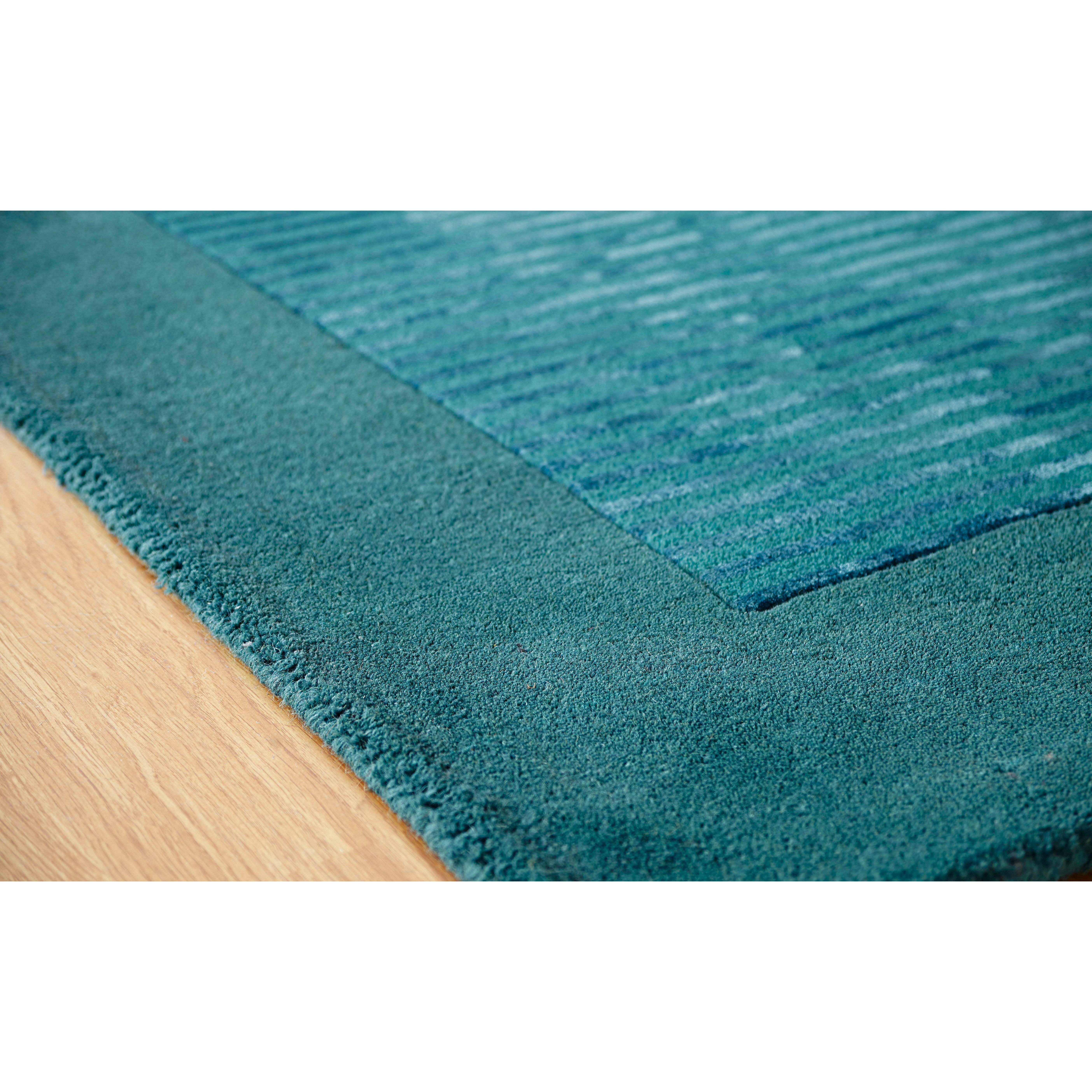 Teal Woven Rag Rug: Brook Lane Rugs Henley Hand-Woven Teal Area Rug & Reviews