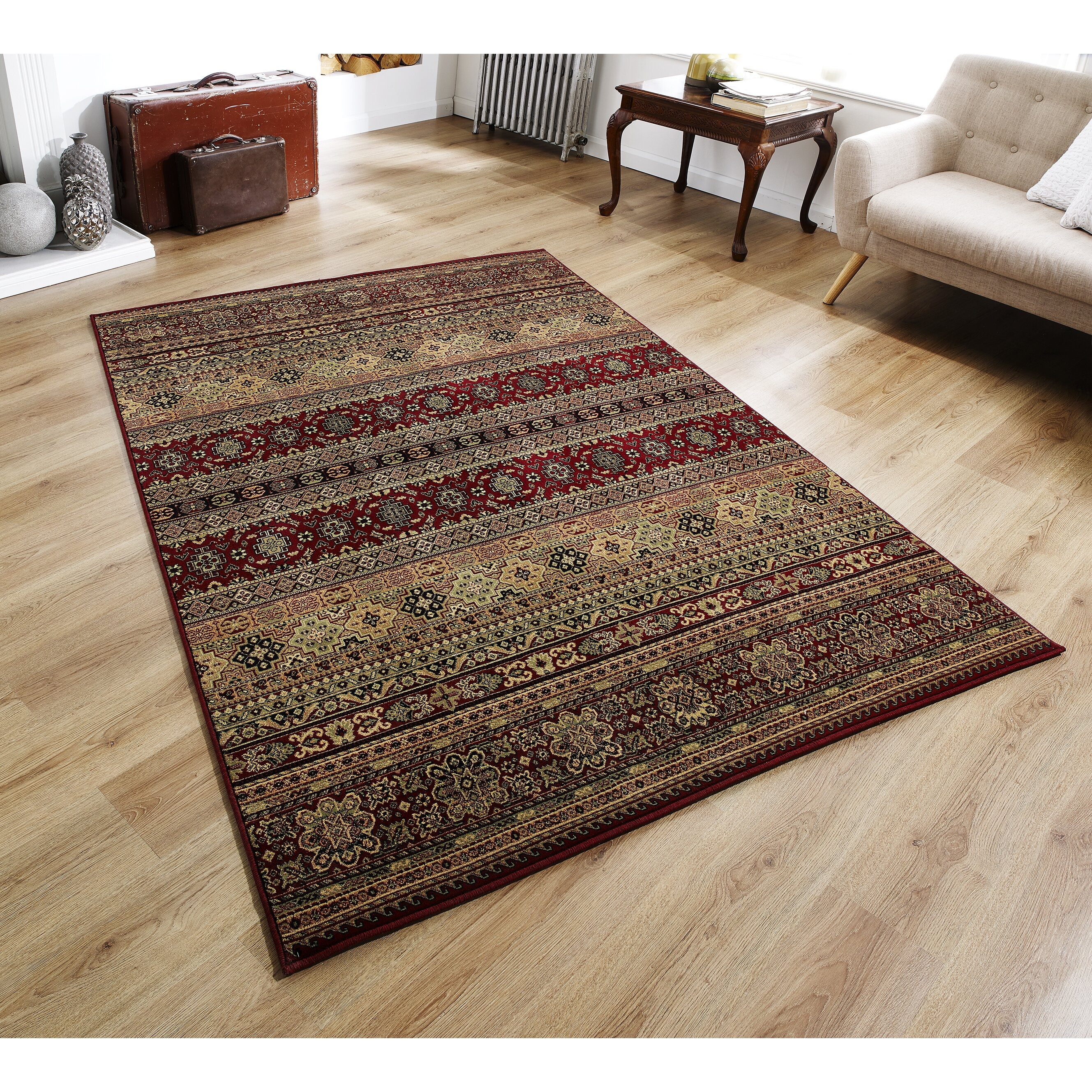 Red Living Room Rug Three Posts Haines Red Area Rug Reviews Wayfaircouk