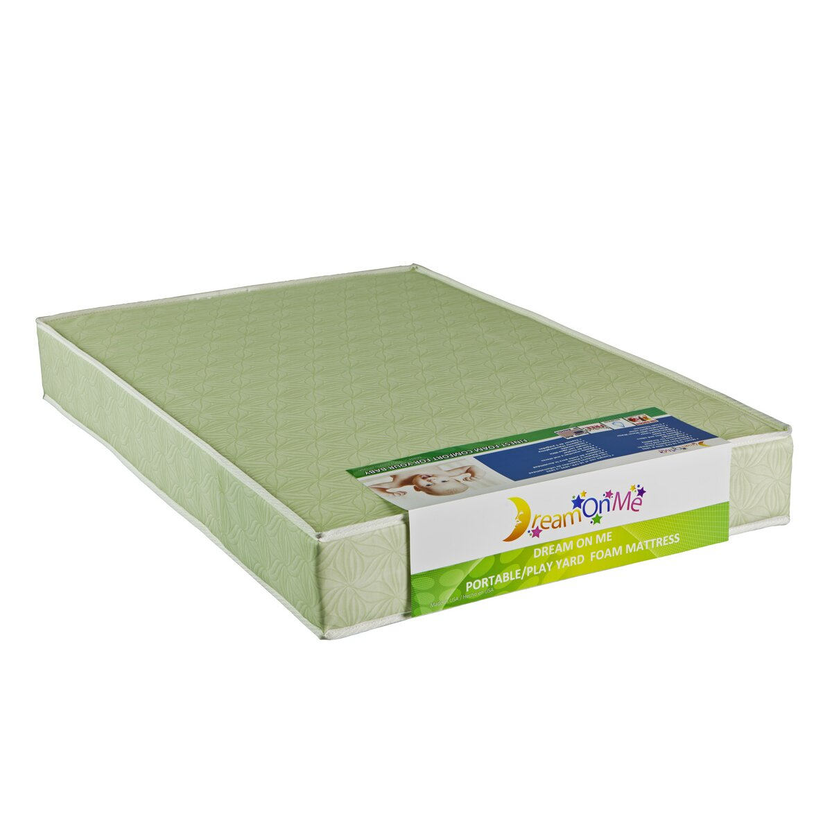 "Dream Me 5"" Two Sided Portable Crib Foam Mattress"