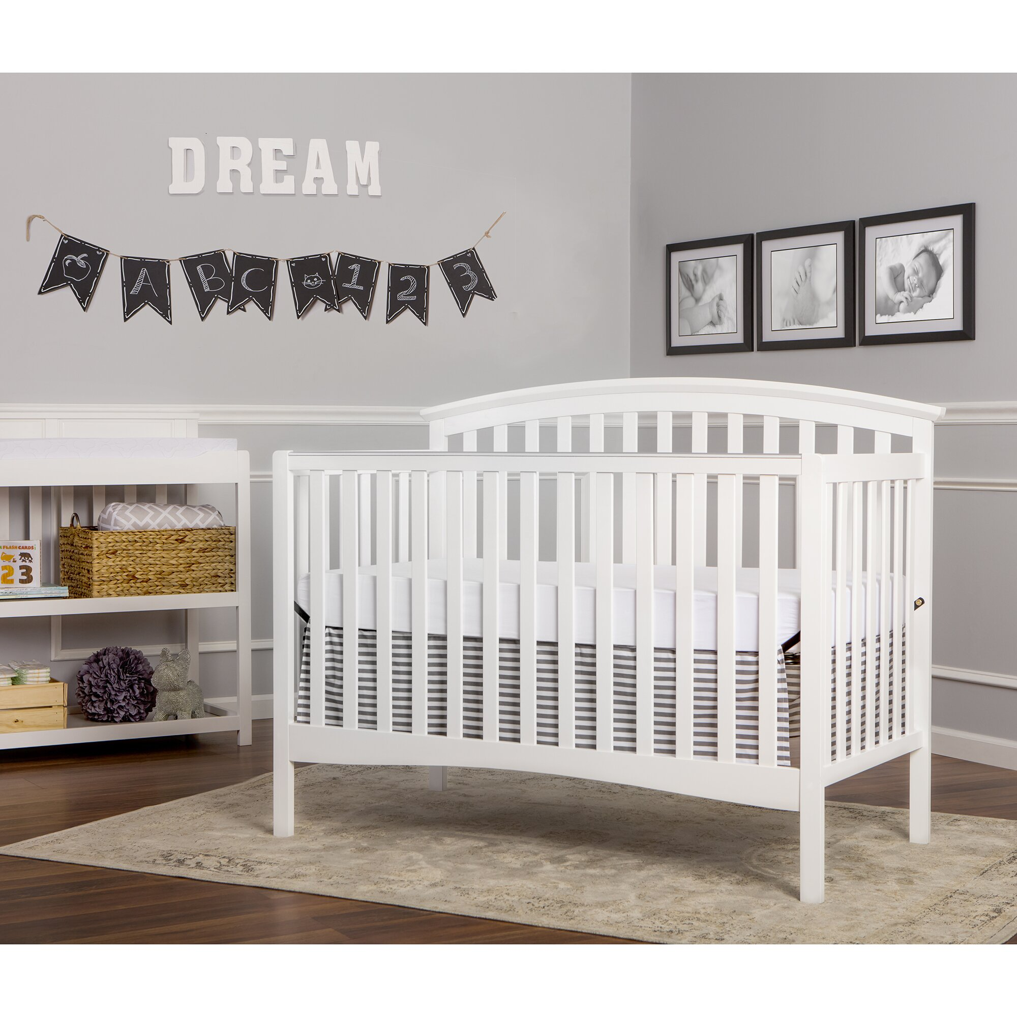 Unfinished crib for sale - Eden 4 In 1 Convertible Crib