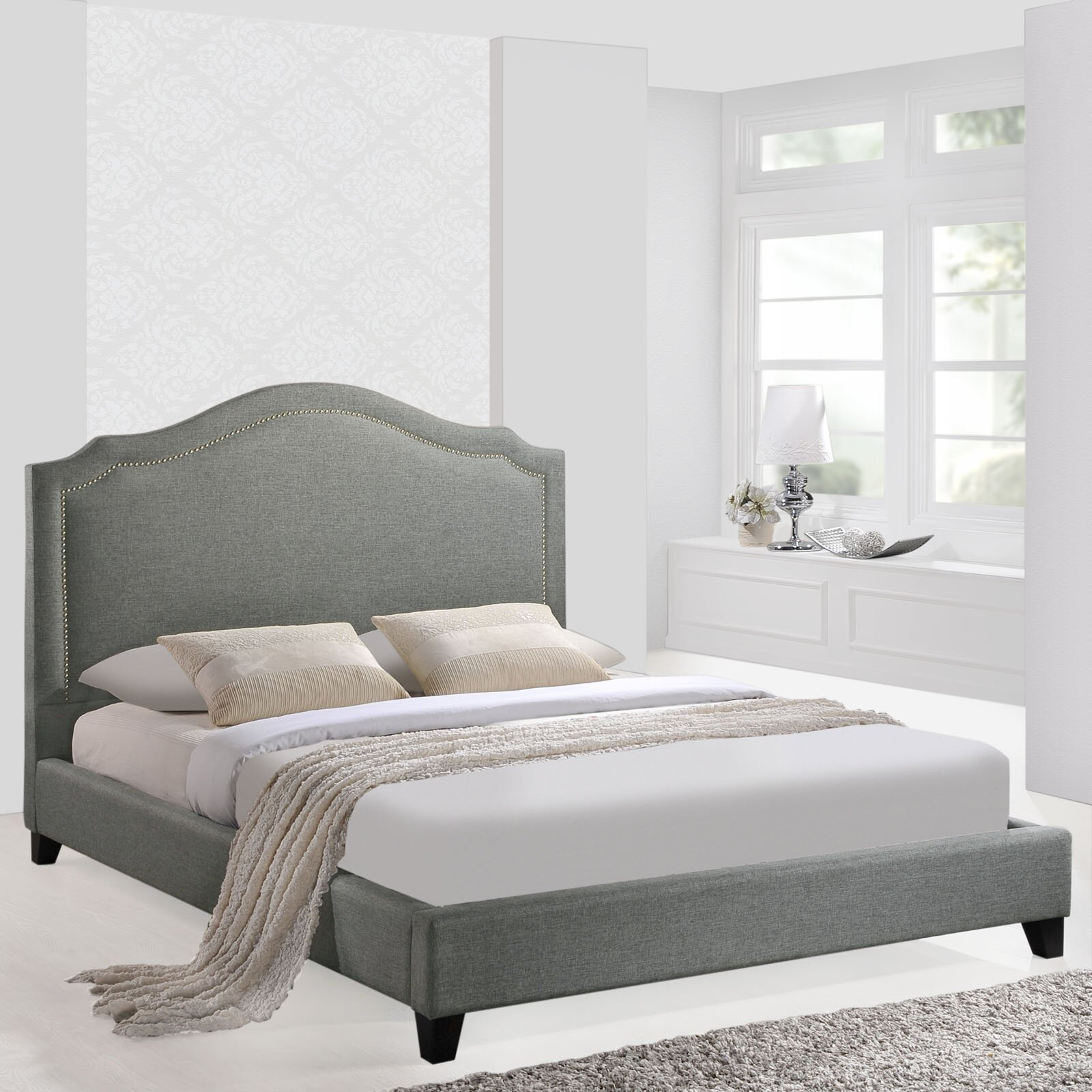 Modway Queen Upholstered Platform Bed Amp Reviews Wayfair