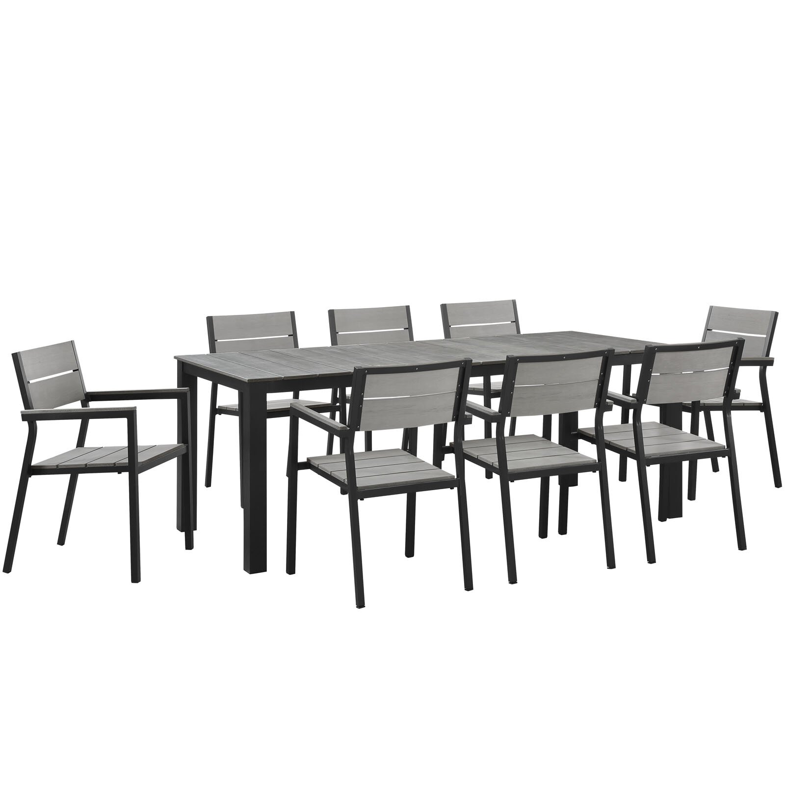outdoor patio furniture eight person patio dining sets modway sku