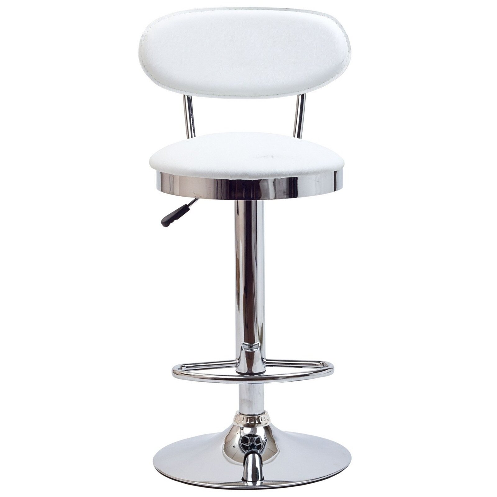 Vintage Bar Stool Adjustable Seat Height Counter Top Chair: Modway Retro Adjustable Height Swivel Bar Stool & Reviews