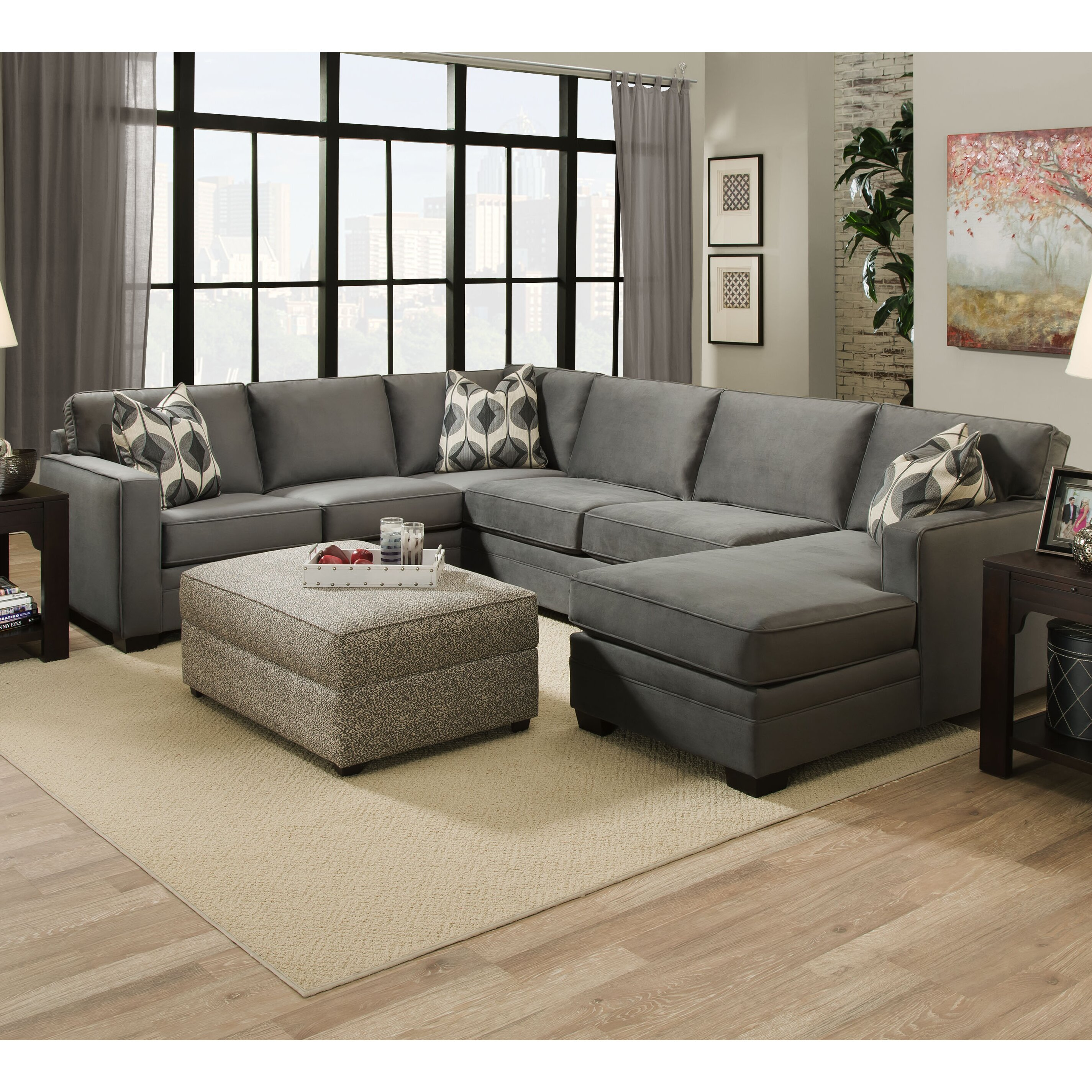 bauhaus sectional sofa with chaise