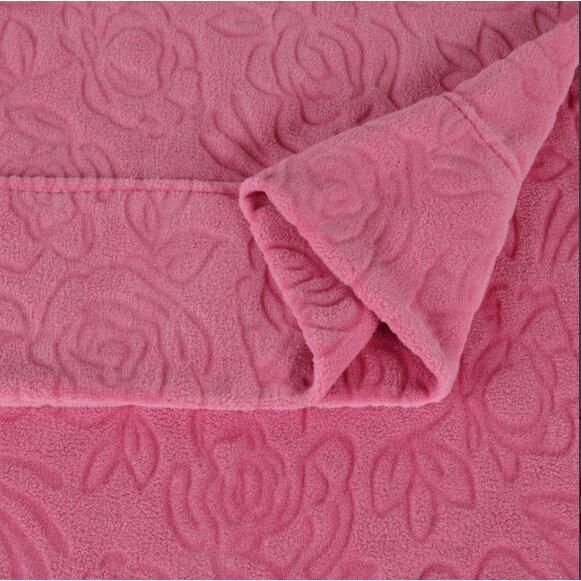 Berkshire Blanket Embossed Roses Microfleece Sheet Set