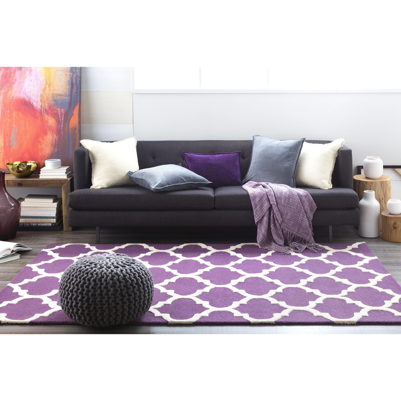 artistic weavers pollack purple geometric stella area rug