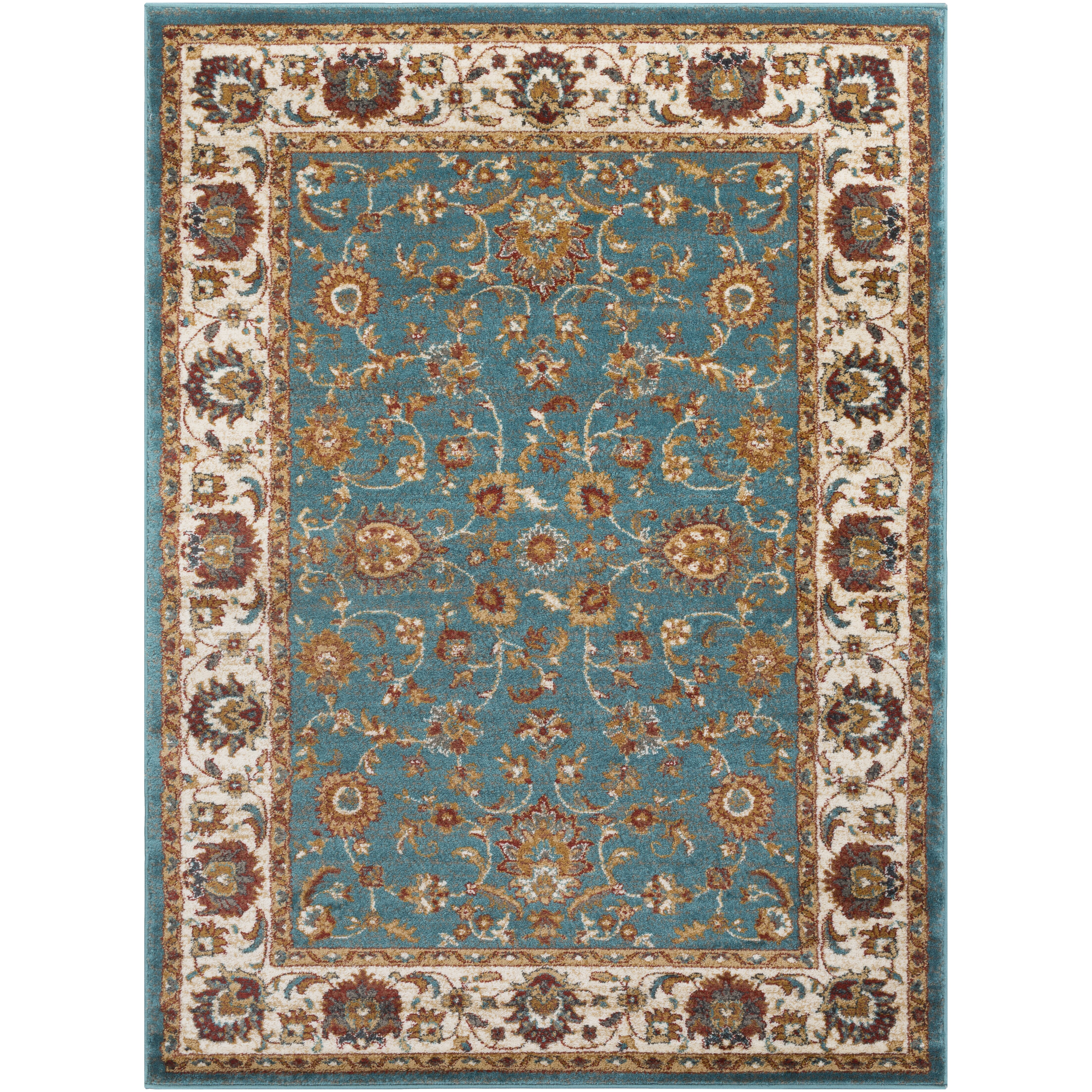 Teal And Gold Rug Home Decor