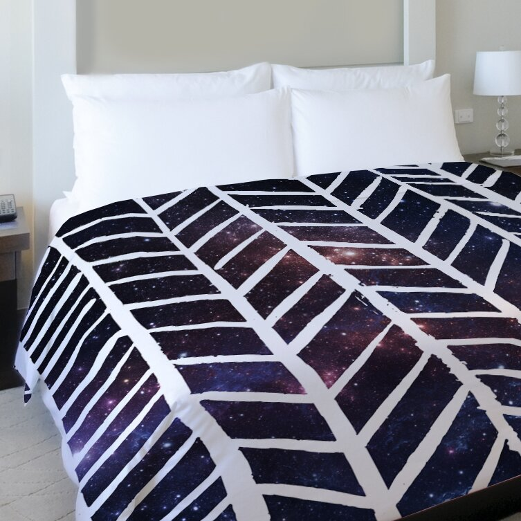 One Bella Casa Beyond The Stars Fleece Duvet Cover Wayfair
