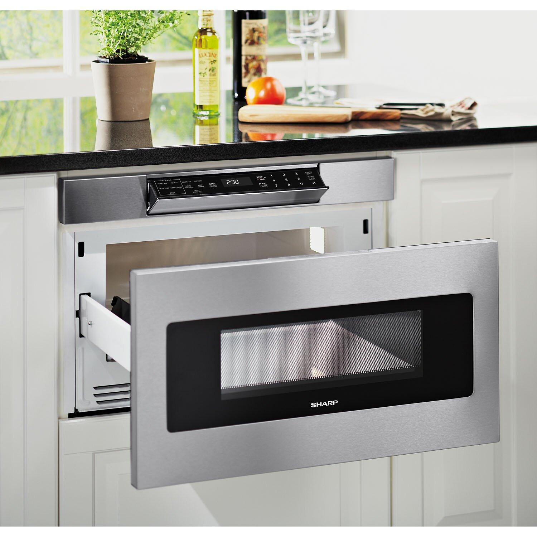 Sharp Insight 1 2 Cu Ft 1000w Microwave Drawers Wayfair