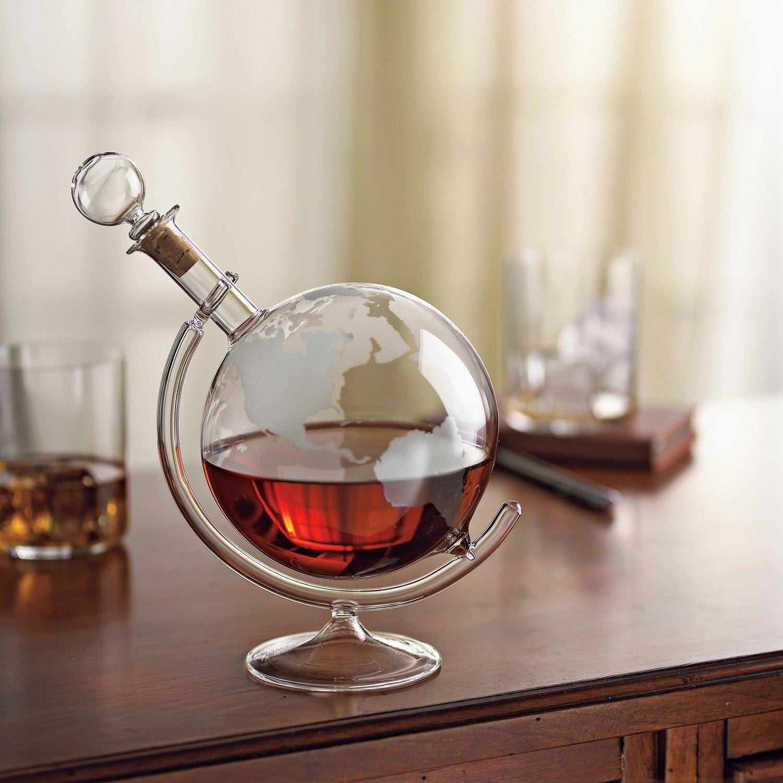 Springtime Wreaths Wine Enthusiast Companies Etched Globe Spirits 35 Oz