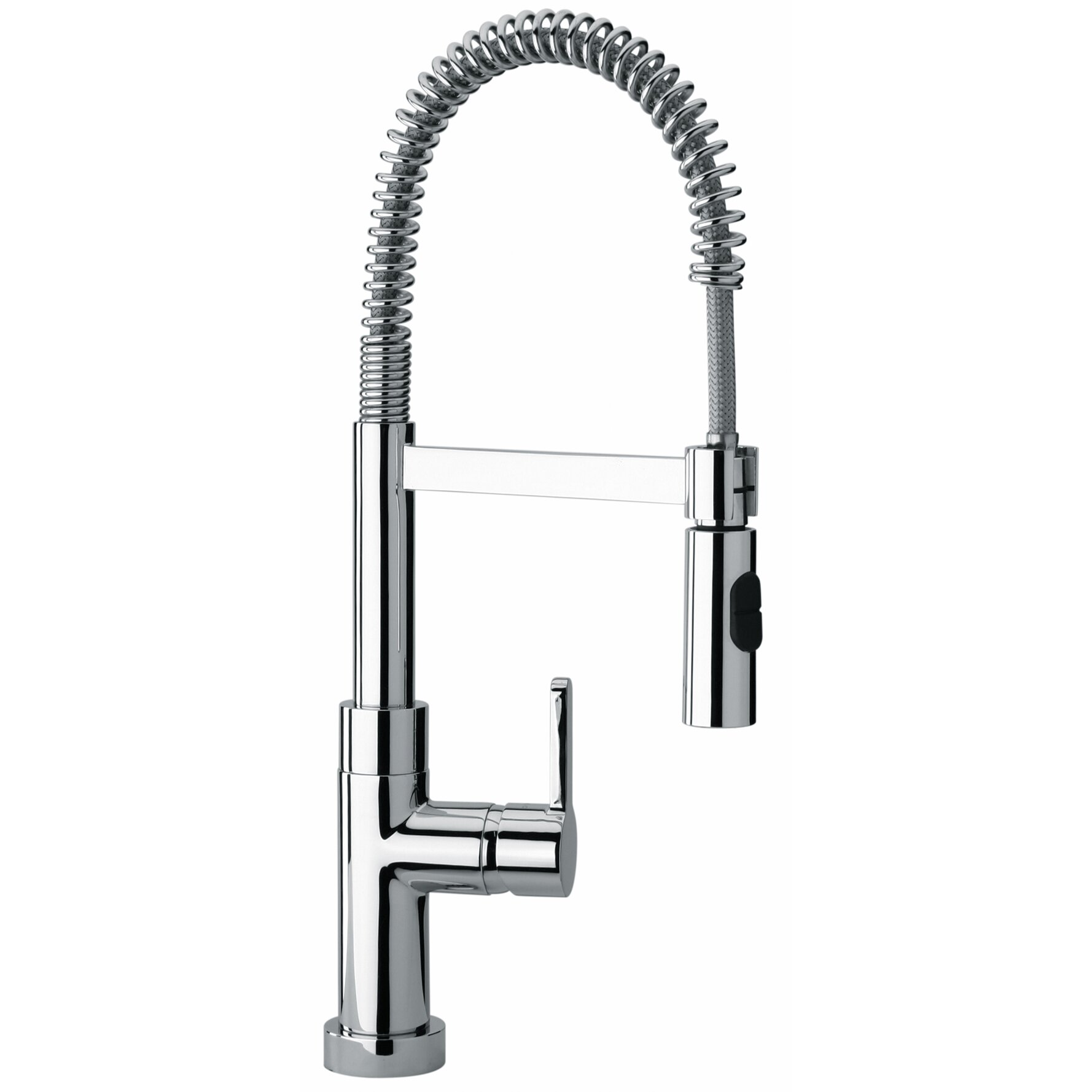Kitchen Faucets With Sprayer Jewel Faucets J25 Kitchen Series Single Hole Kitchen Faucet With