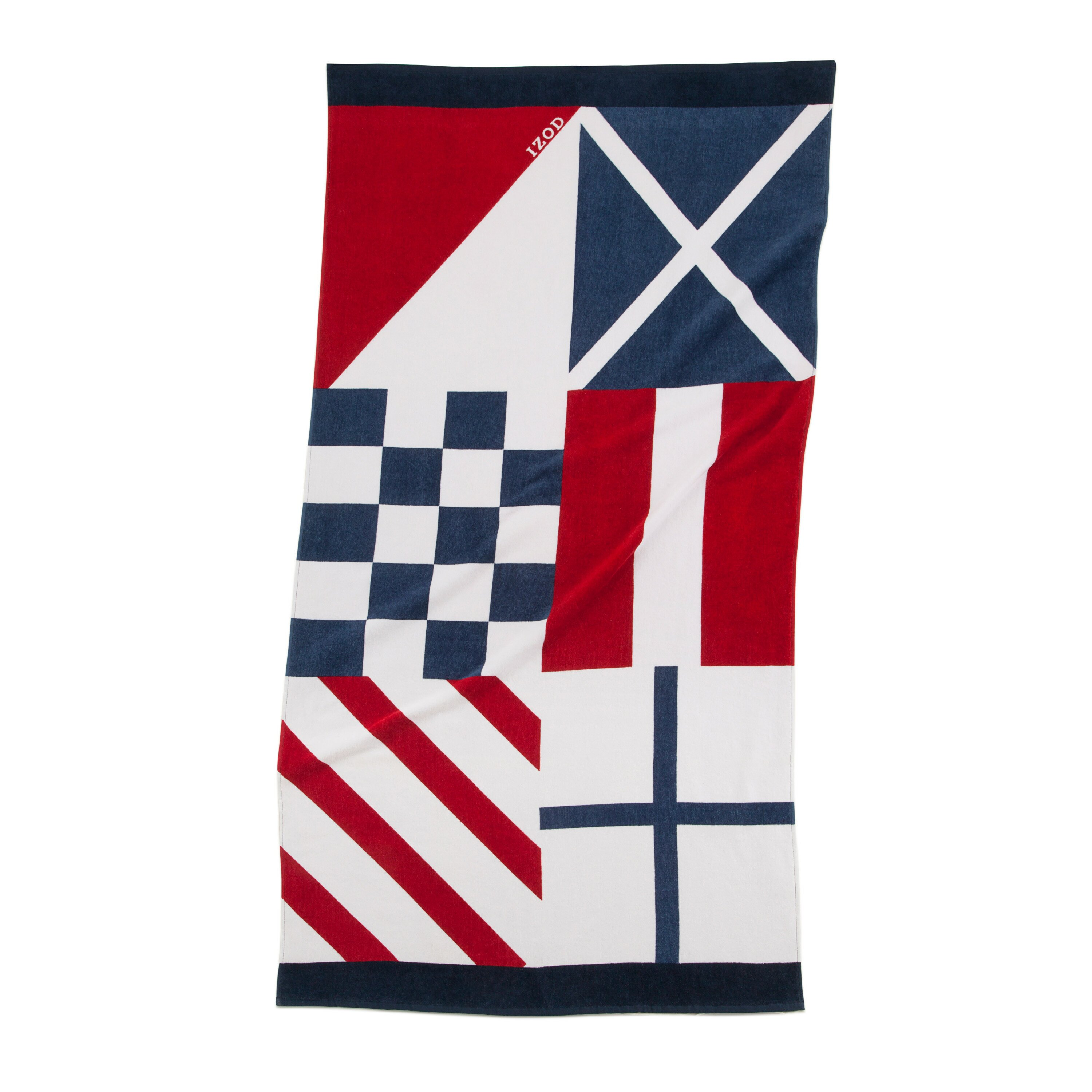 Nautical Flags Bath Towels: IZOD Nautical Flags Beach Towel & Reviews