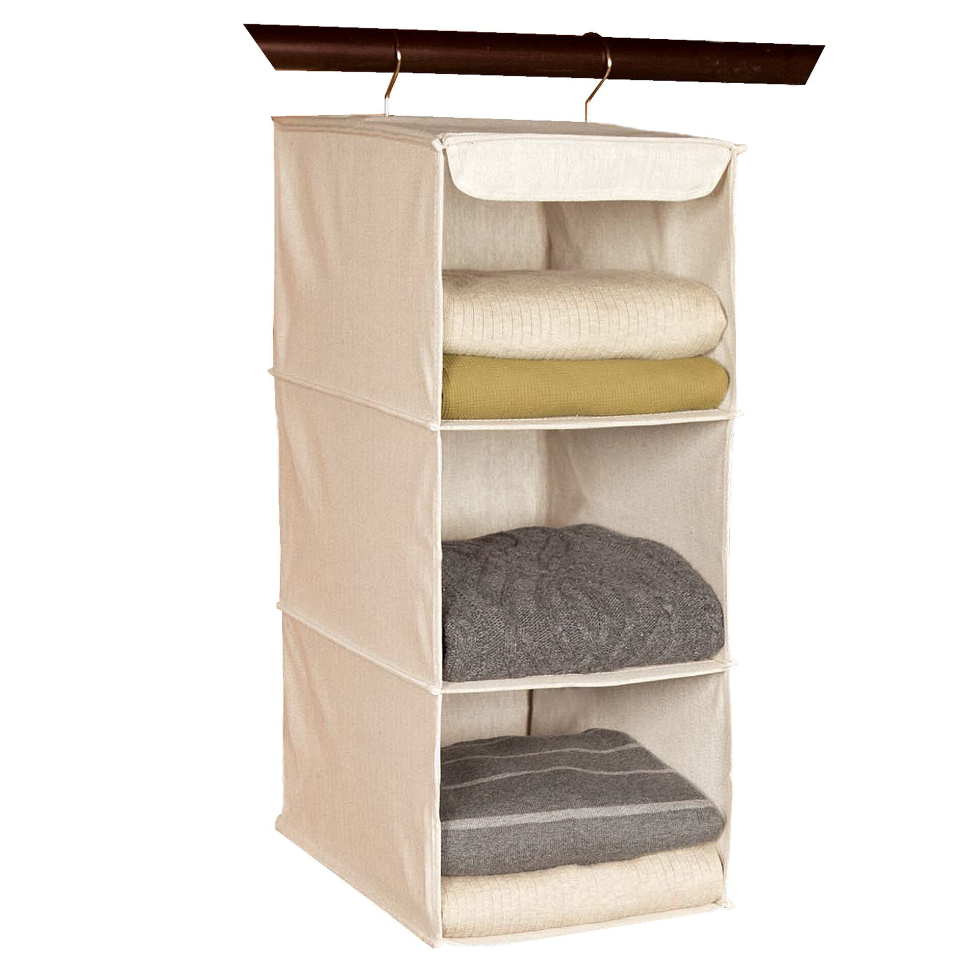 Richards Homewares Nature Of Storage 3 Compartment Hanging Organizer