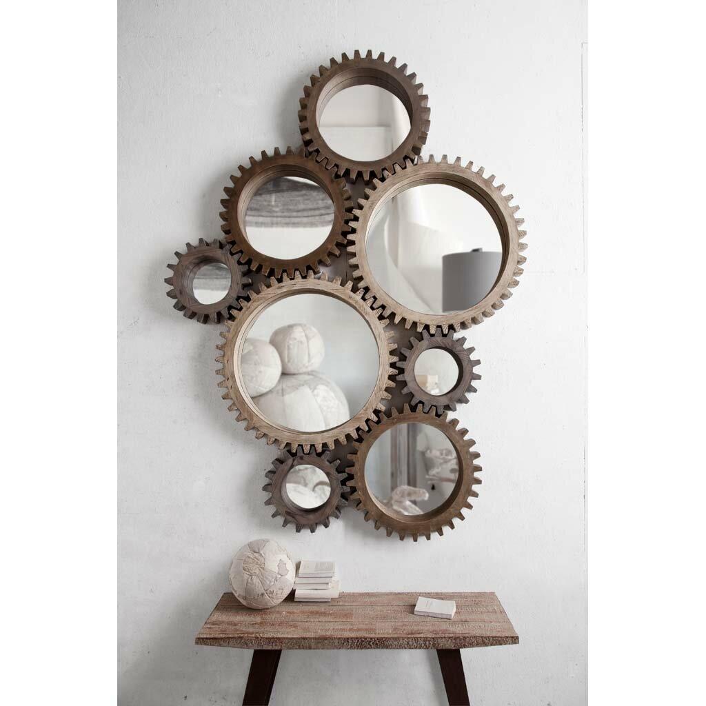 Mercana cog ii mirror reviews wayfair for Decoration murale miroir
