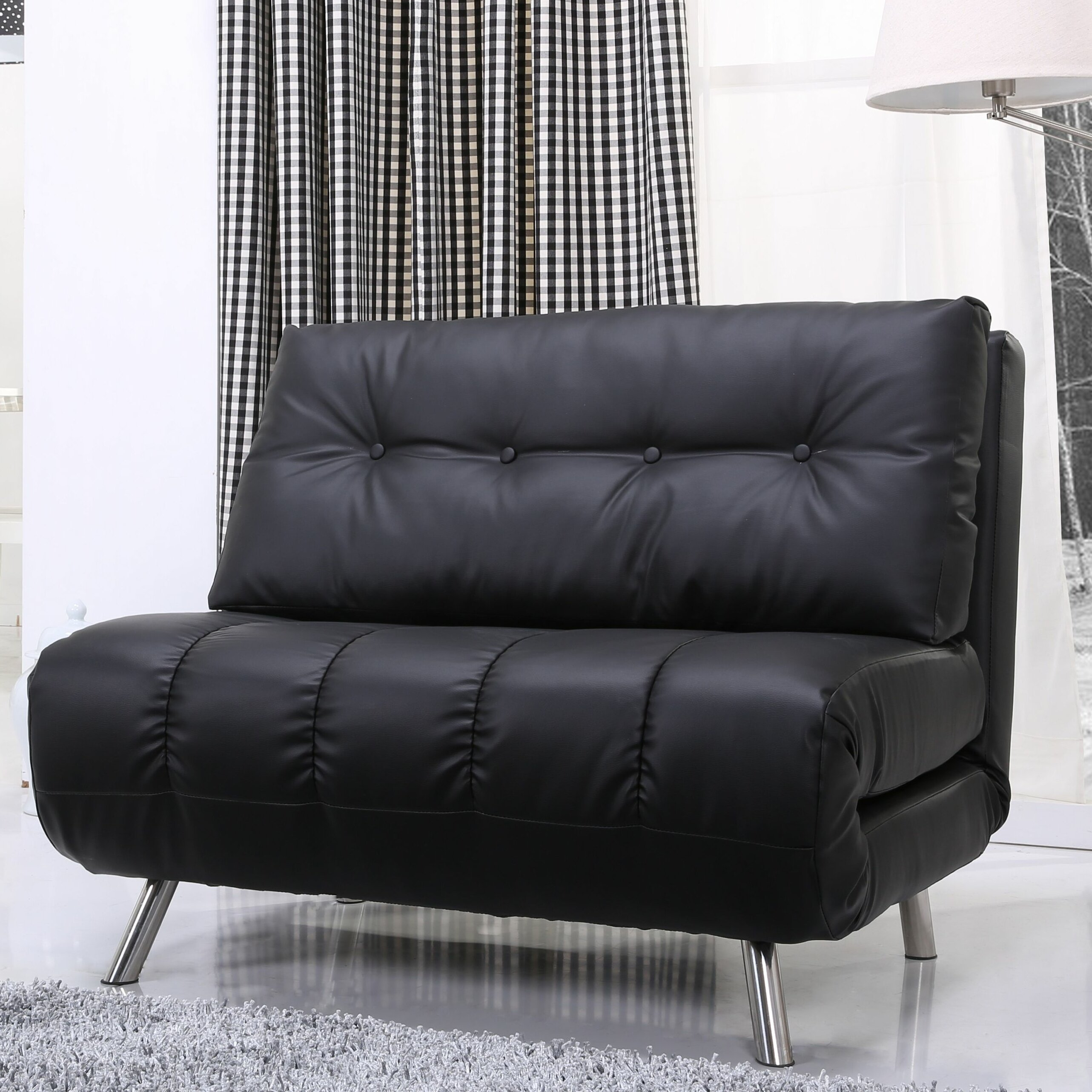 leader lifestyle romeo clic clac convertible futon chair. Black Bedroom Furniture Sets. Home Design Ideas