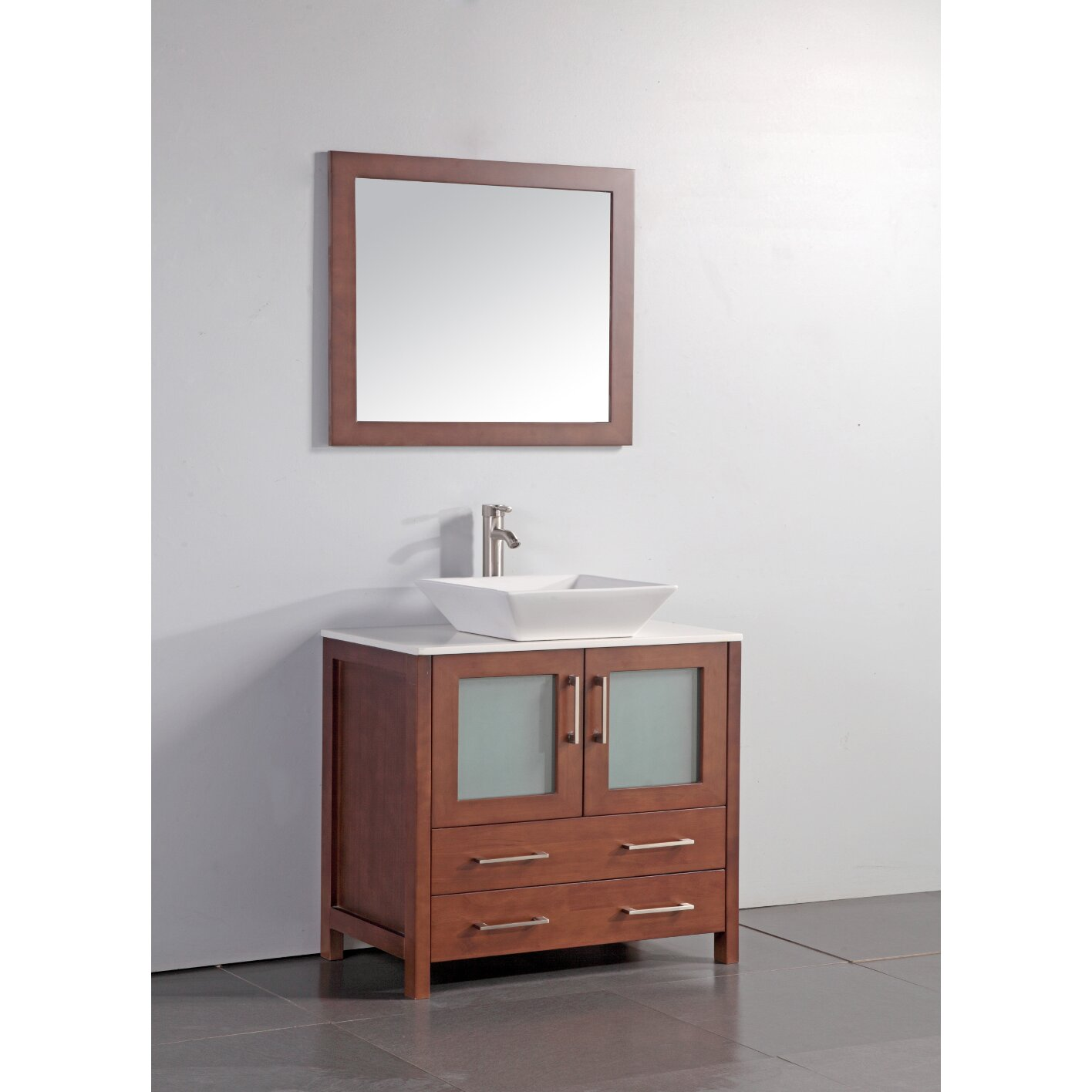 36  Single Bathroom Vanity Set with Mirror. Vessel Sink Vanities You ll Love   Wayfair