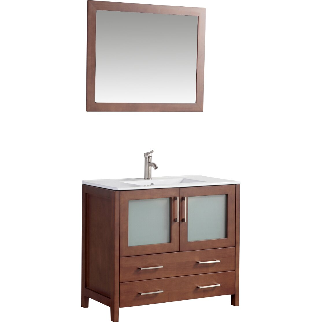 "Legion Furniture 36"" Single Bathroom Vanity Set with Mirror & Review"